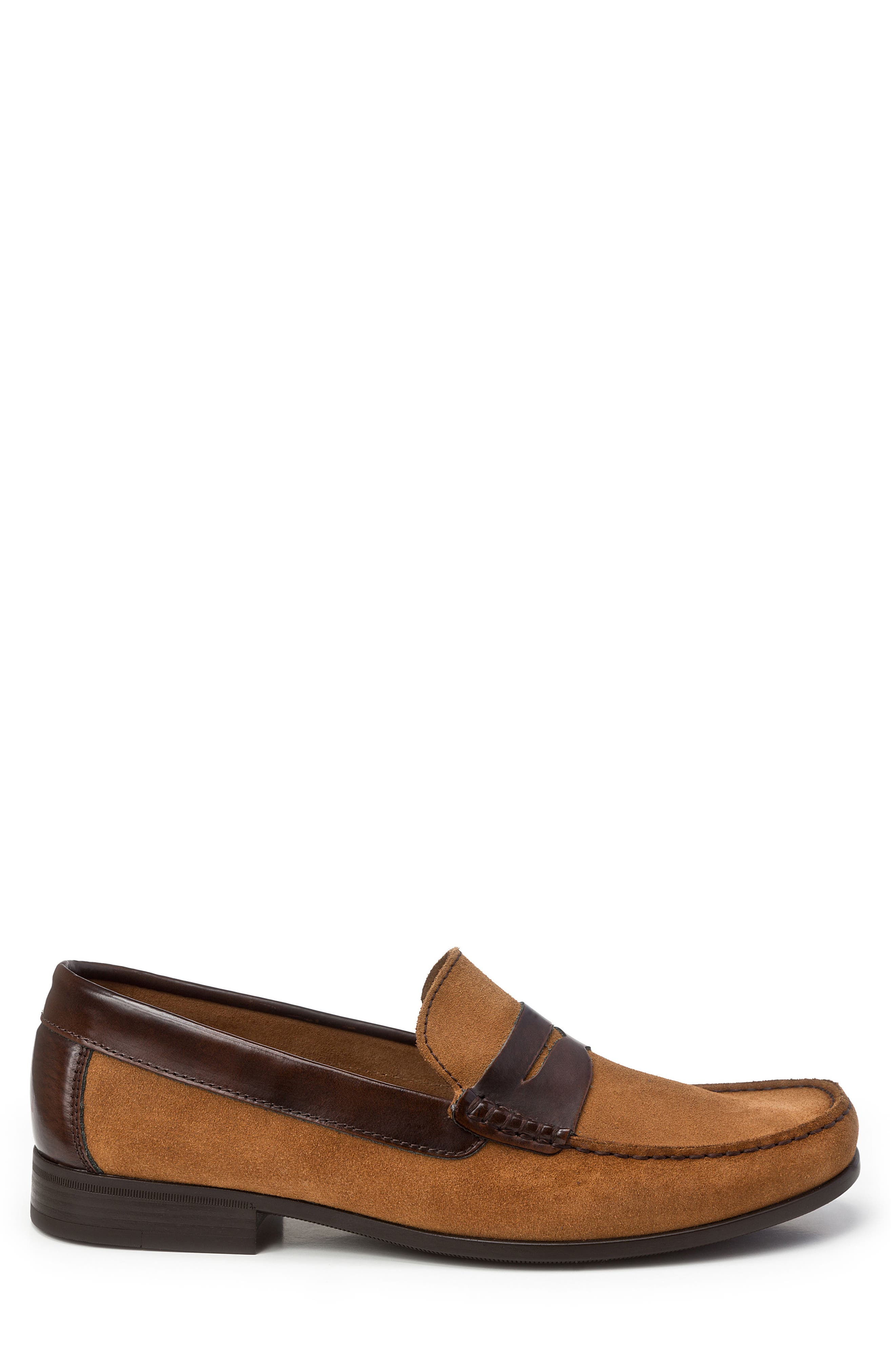Lucho Penny Loafer,                             Alternate thumbnail 3, color,                             Tan Leather