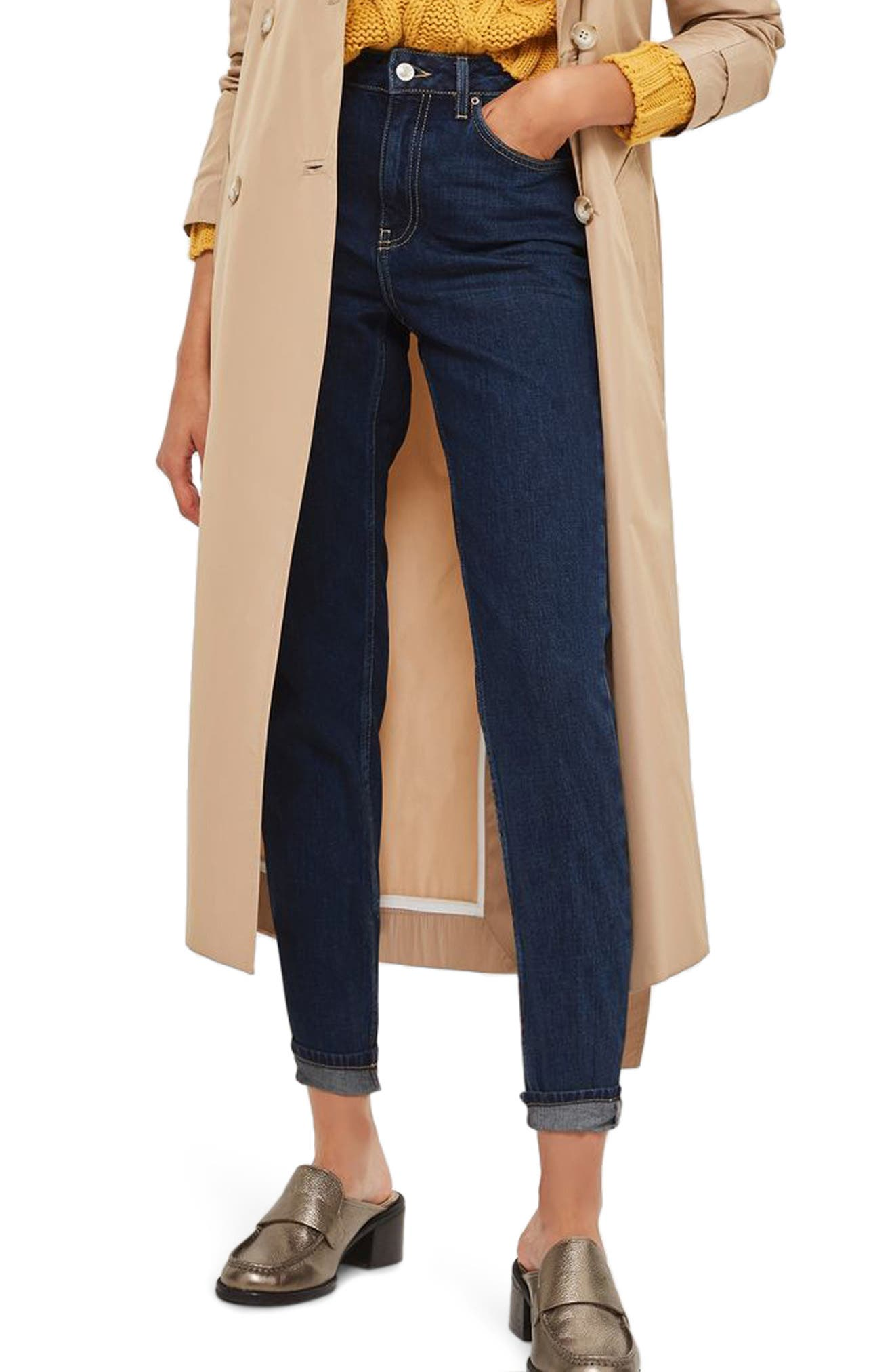 Mom Jeans,                         Main,                         color, Mid Denim