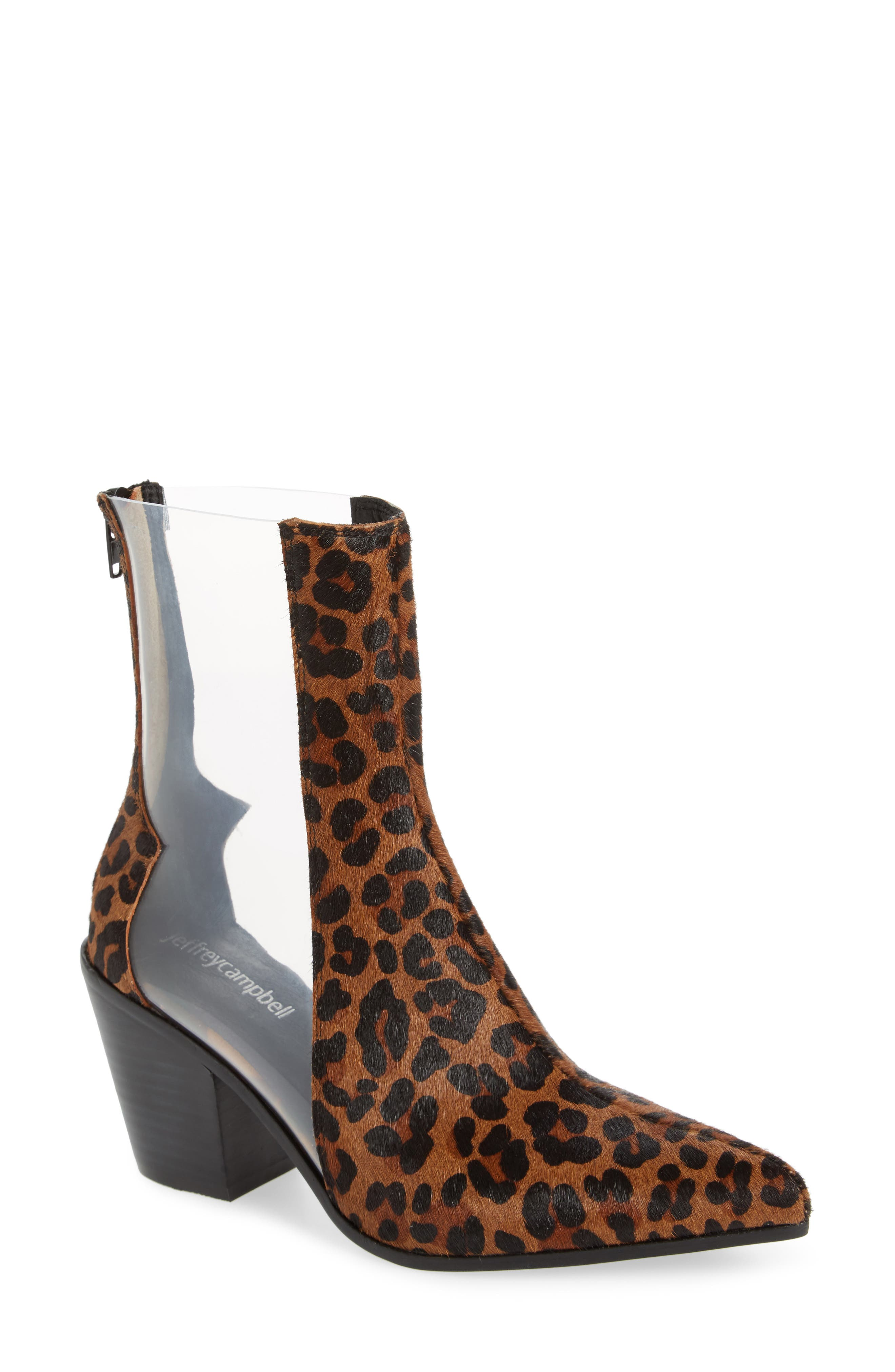Alternate Image 1 Selected - Jeffrey Campbell Aliases Genuine Calf Hair Boot (Women)