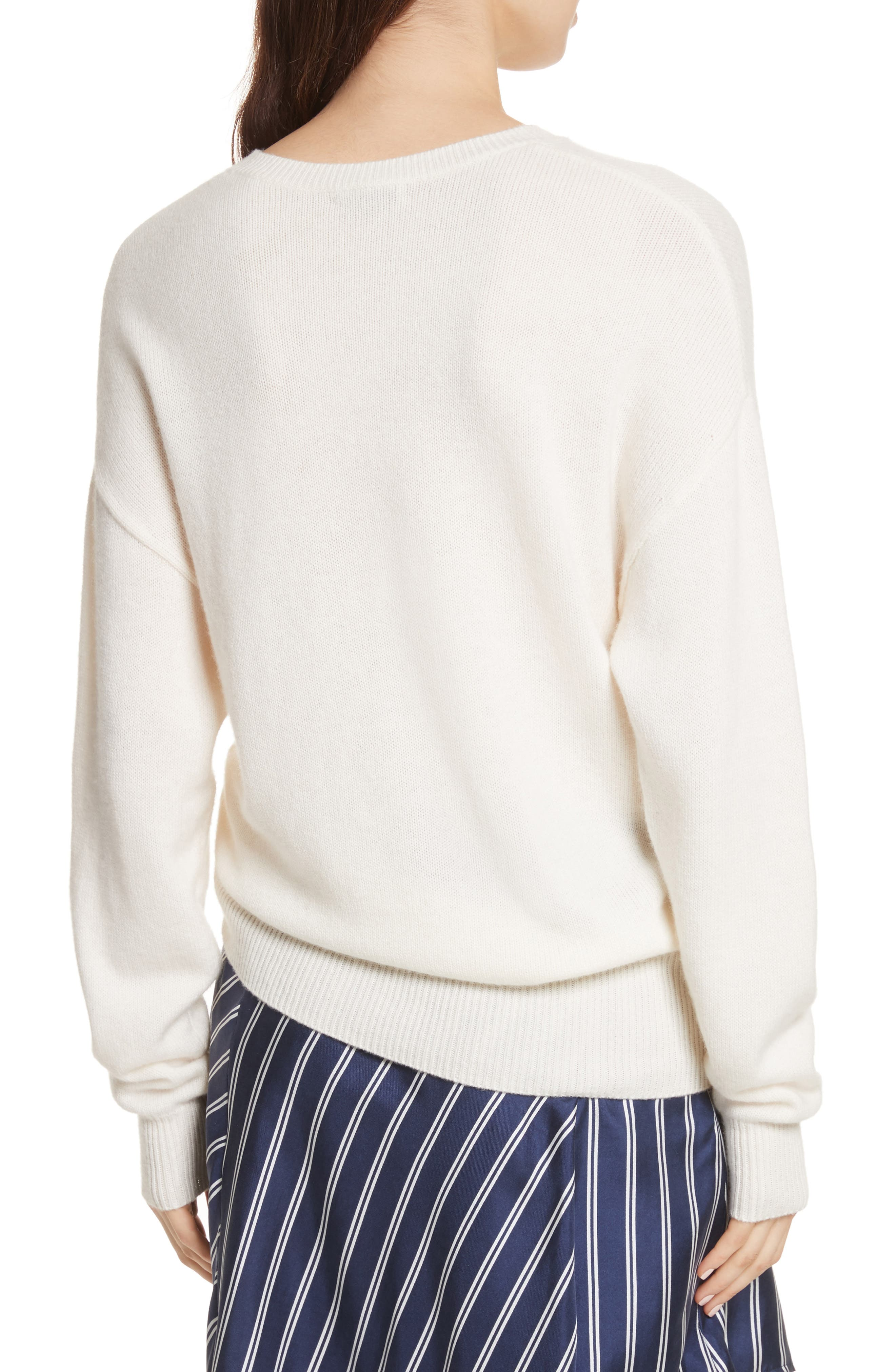 Iphis Wool & Cashmere Sweater,                             Alternate thumbnail 2, color,                             Porcelain