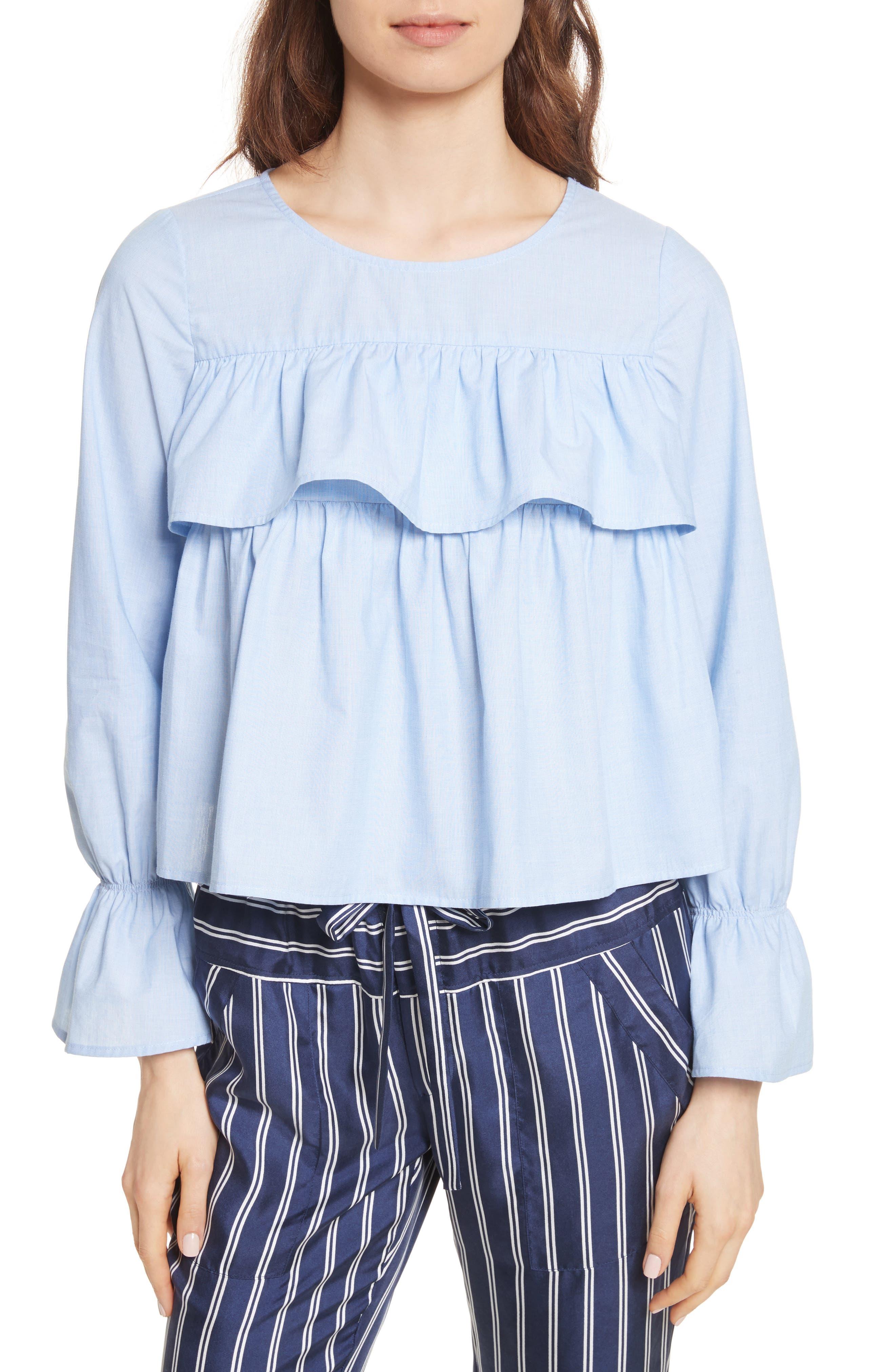 Adotte Cotton Top,                         Main,                         color, Maritime Chambray