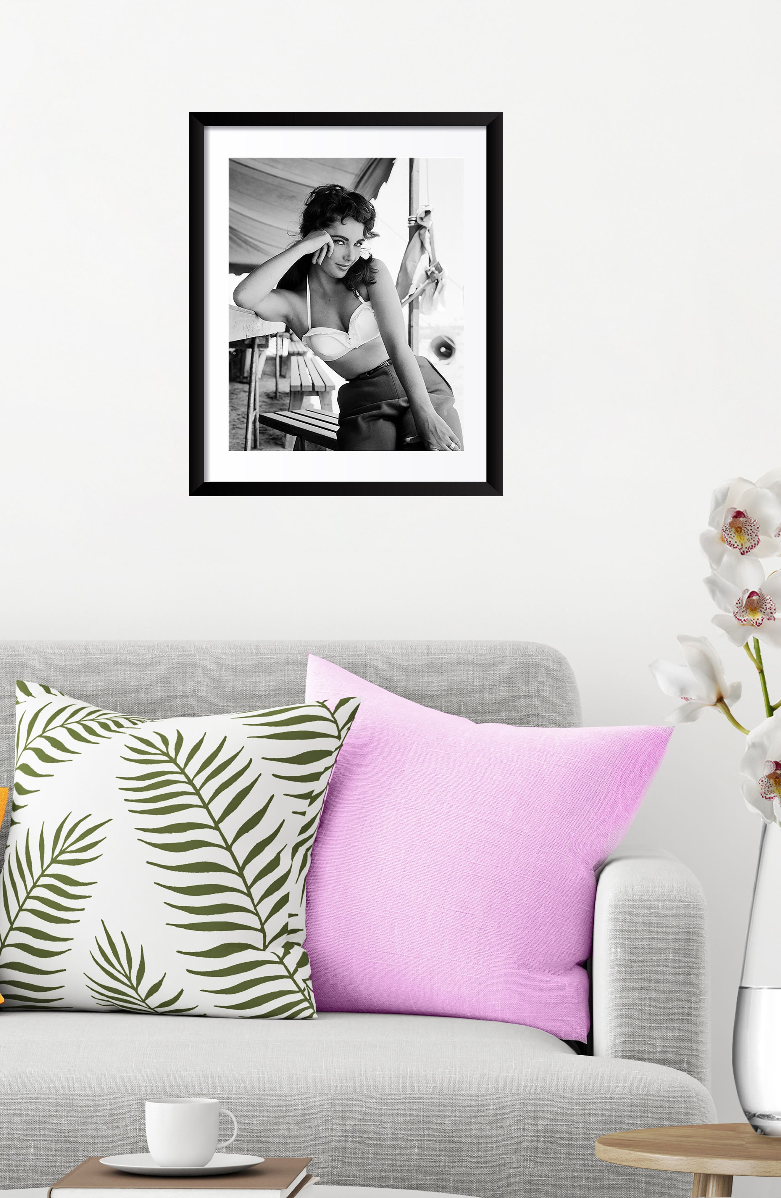 Elizabeth Taylor Fine Art Print,                             Alternate thumbnail 2, color,                             Black