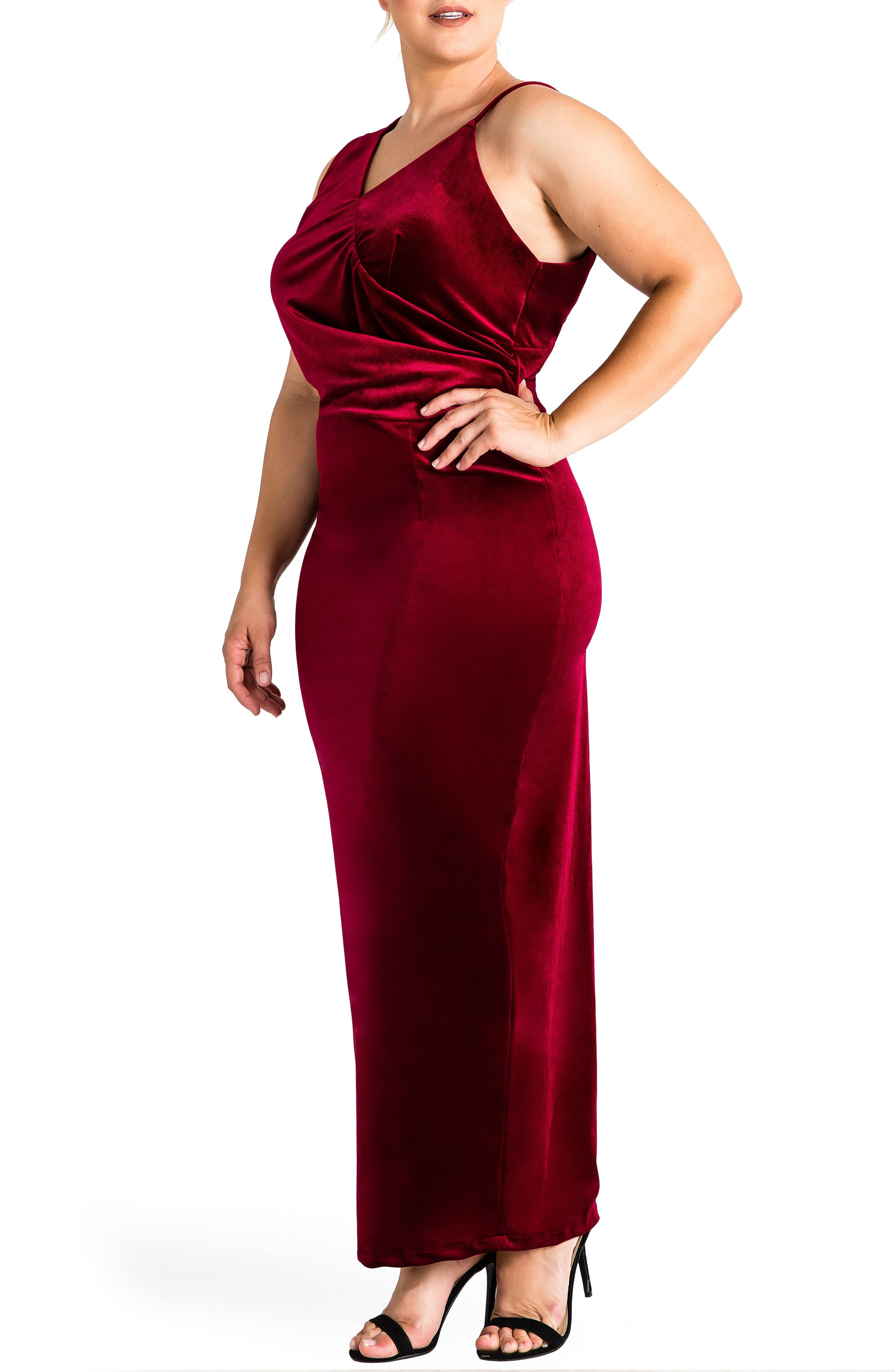 Alternate Image 3  - Standards & Practices Regan Velvet Sheath Gown (Plus Size)
