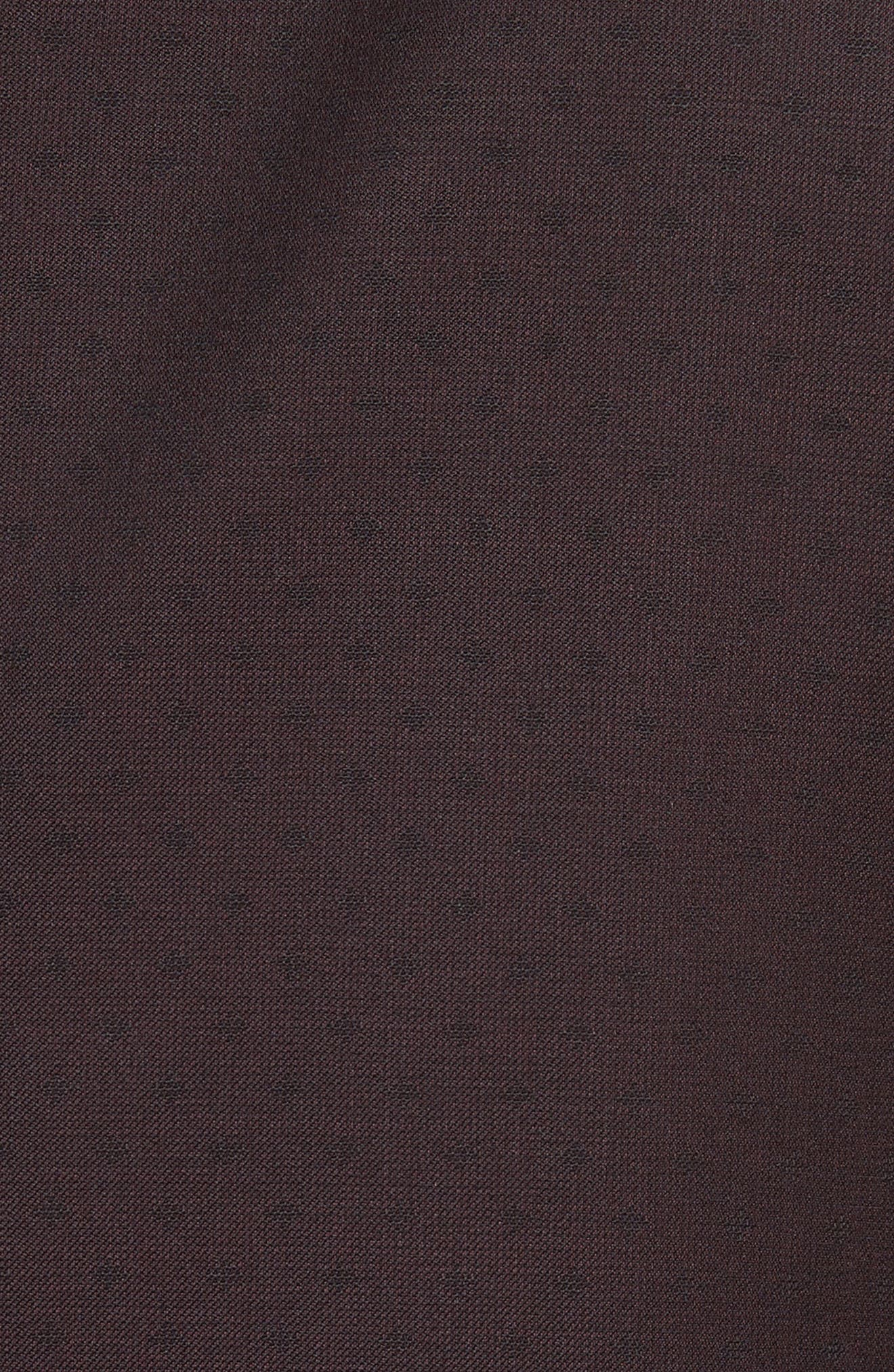 Trim Fit Wool Dinner Jacket,                             Alternate thumbnail 5, color,                             Merlot