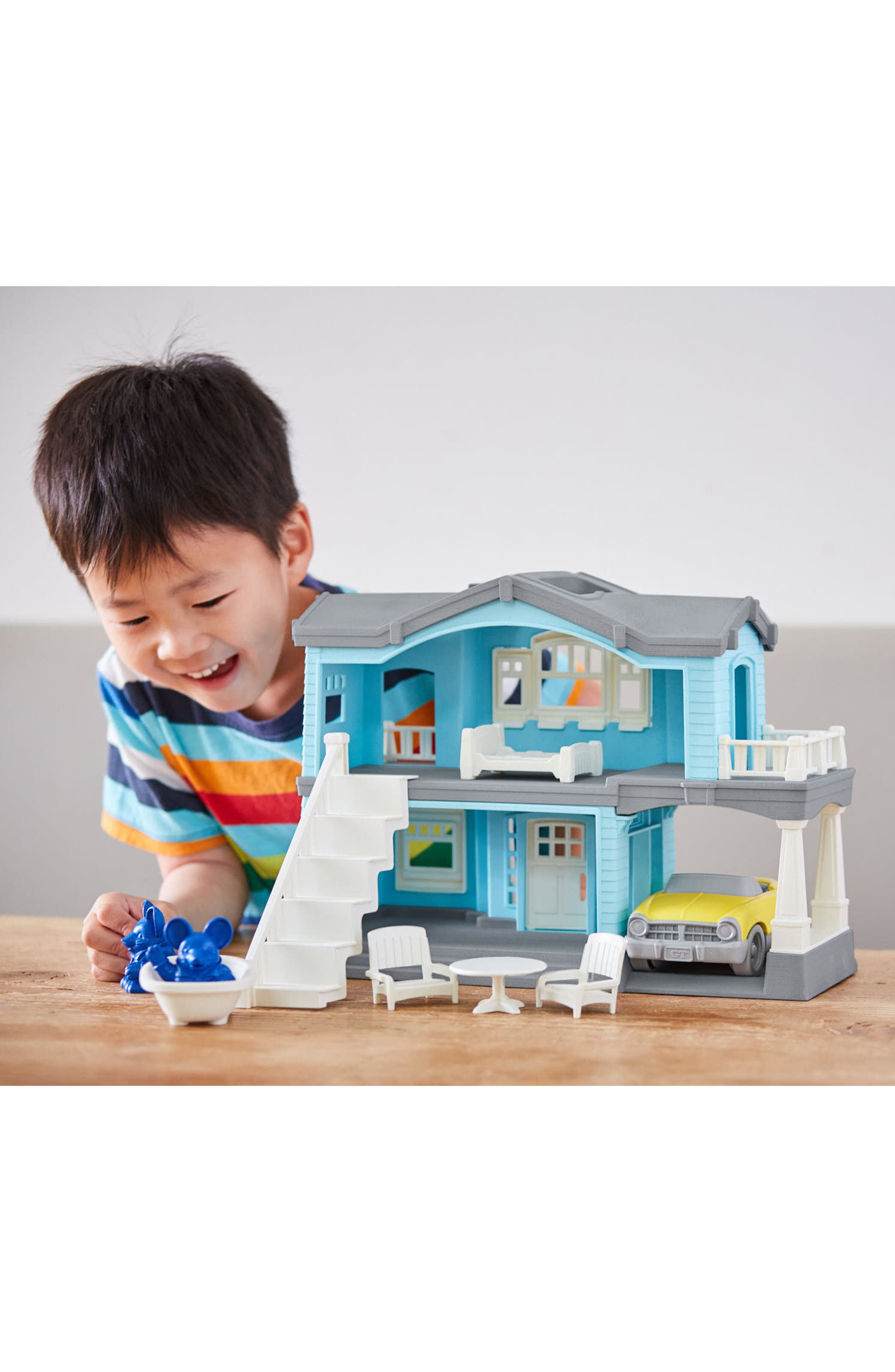 Alternate Image 4  - Green Toys 10-Piece House Play Set