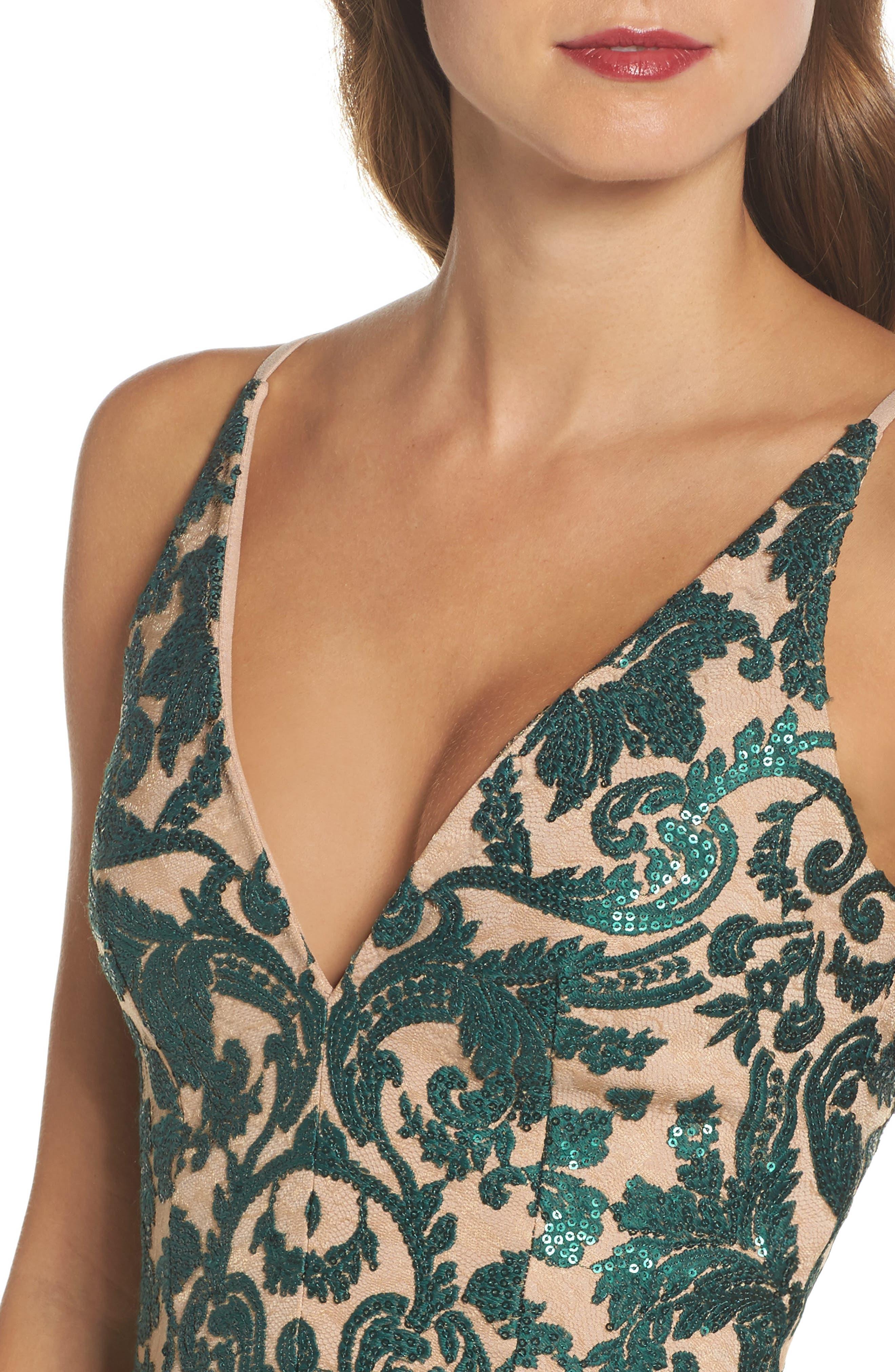 Alternate Image 5  - Dress the Population Blair Embellished Fit & Flare Dress