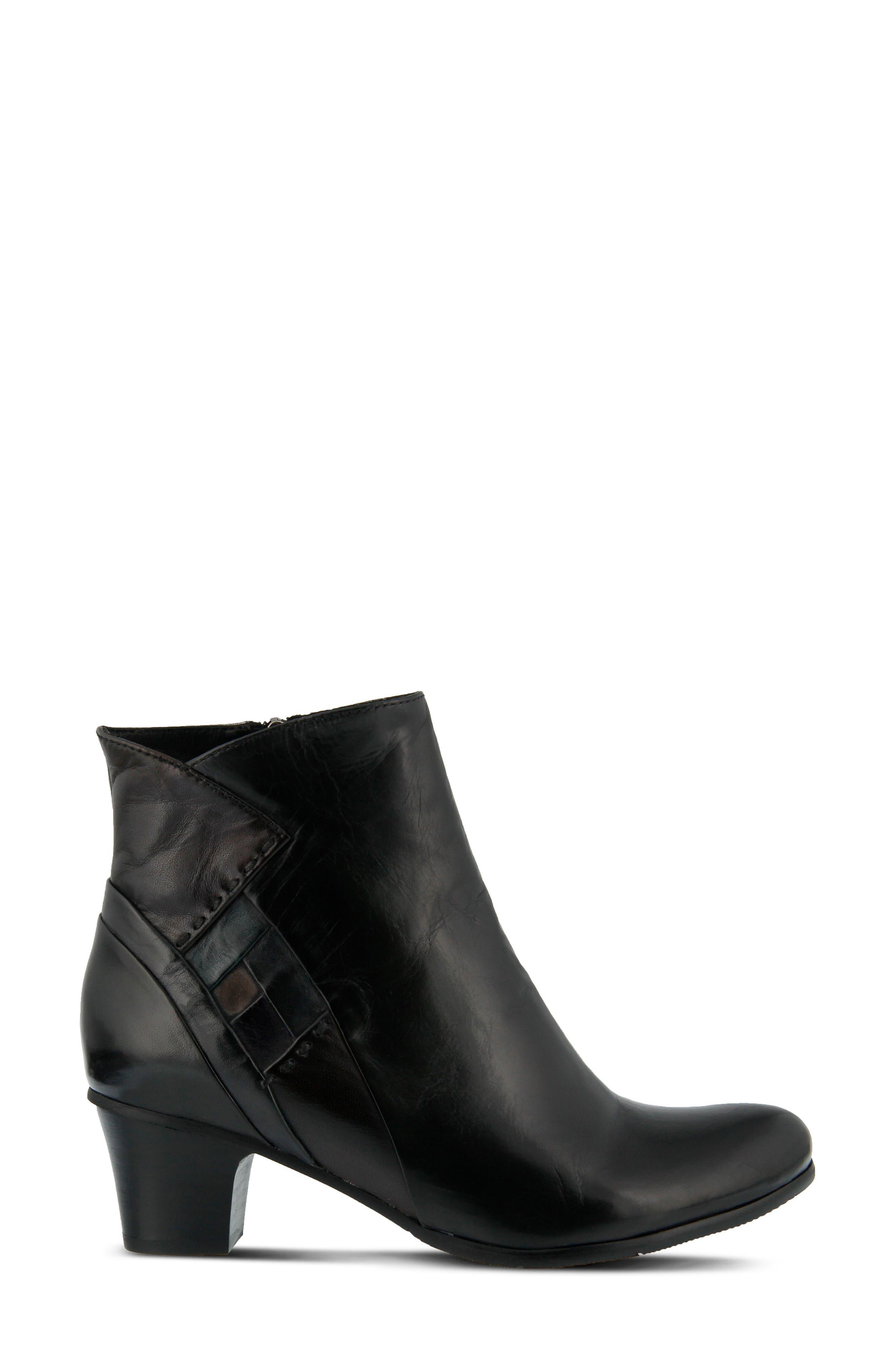 Gaspar Bootie,                             Alternate thumbnail 3, color,                             Black Multi Leather