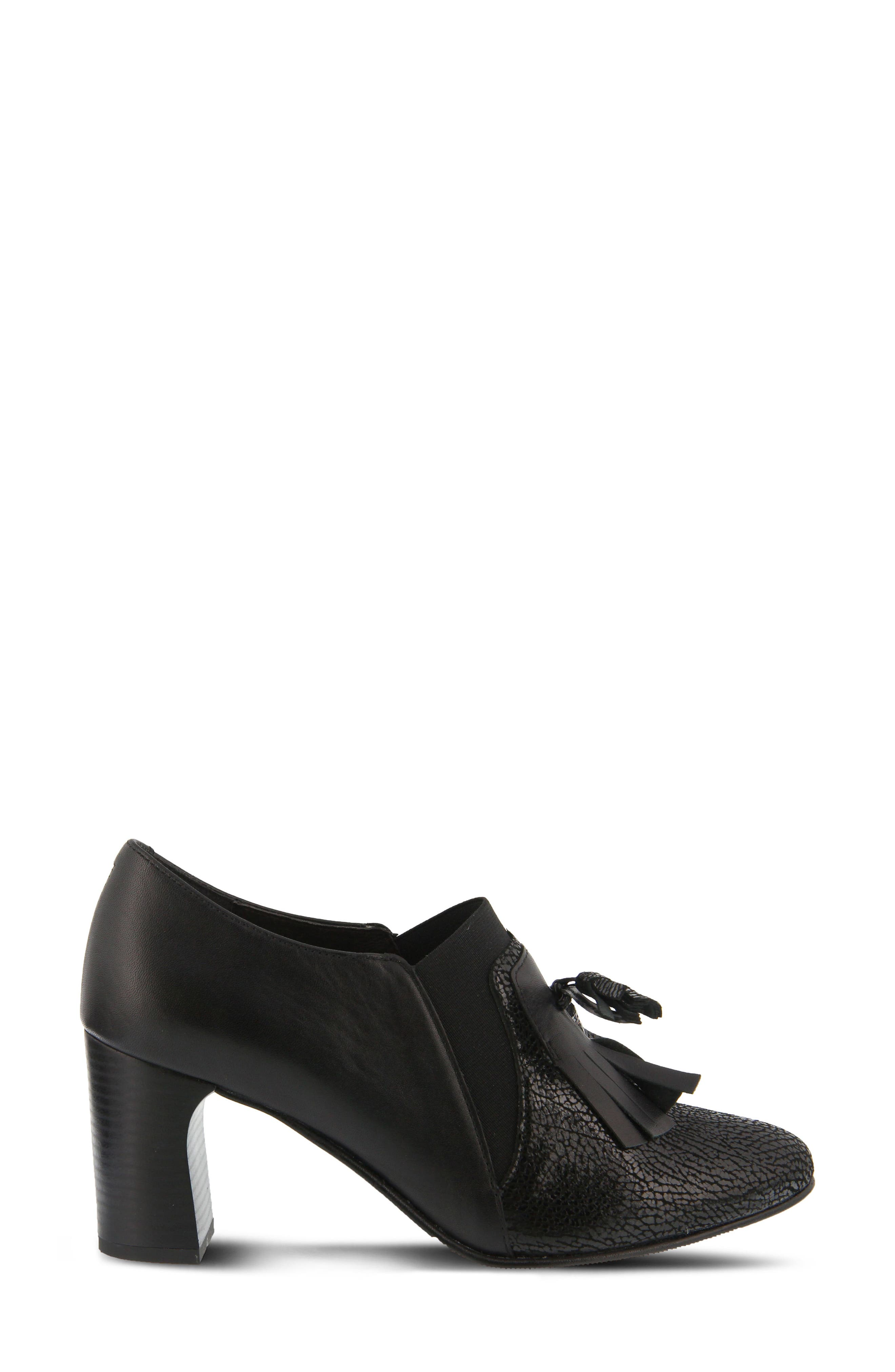 Conquer Foldover Cuff Bootie,                             Alternate thumbnail 3, color,                             Black Leather