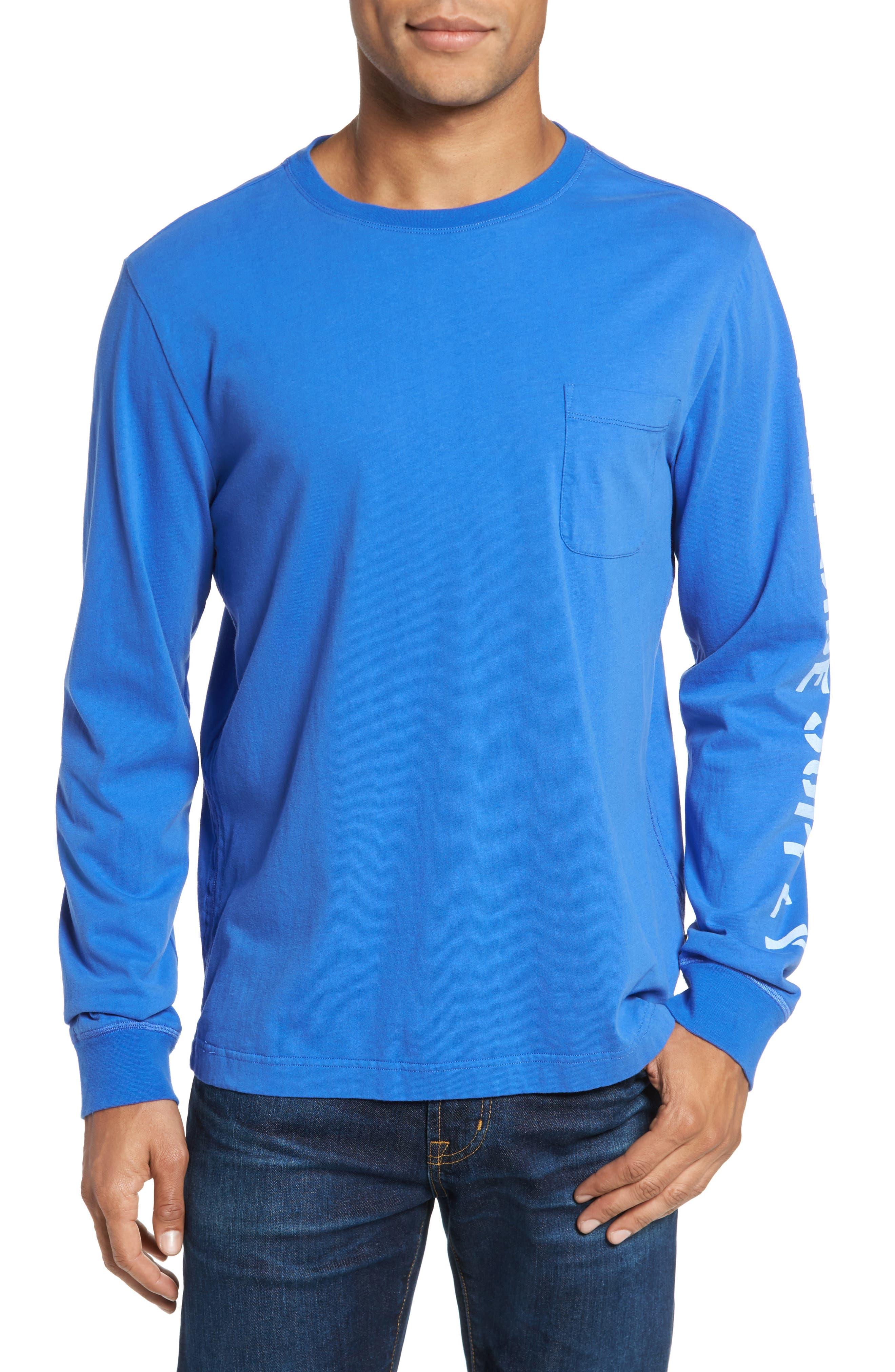 Logo Jersey Crewneck T-Shirt,                         Main,                         color, Dazzling Blue Heather