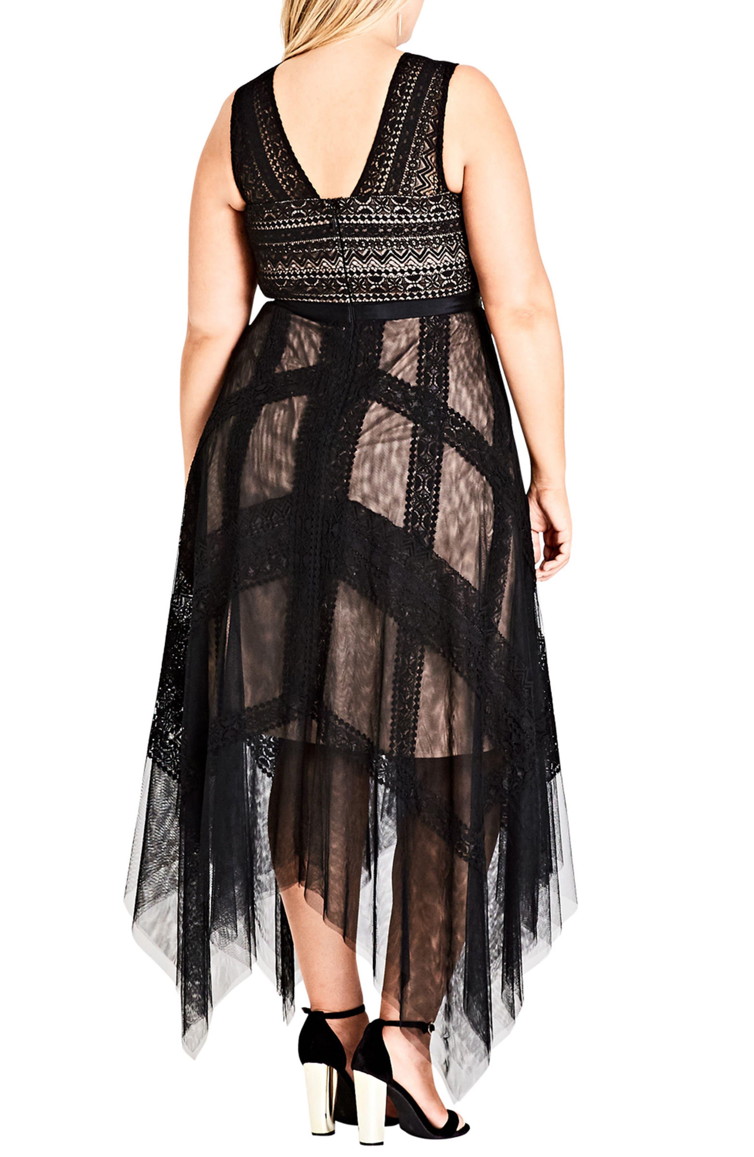 Whimsical Lace Maxi Dress,                             Alternate thumbnail 2, color,                             Black