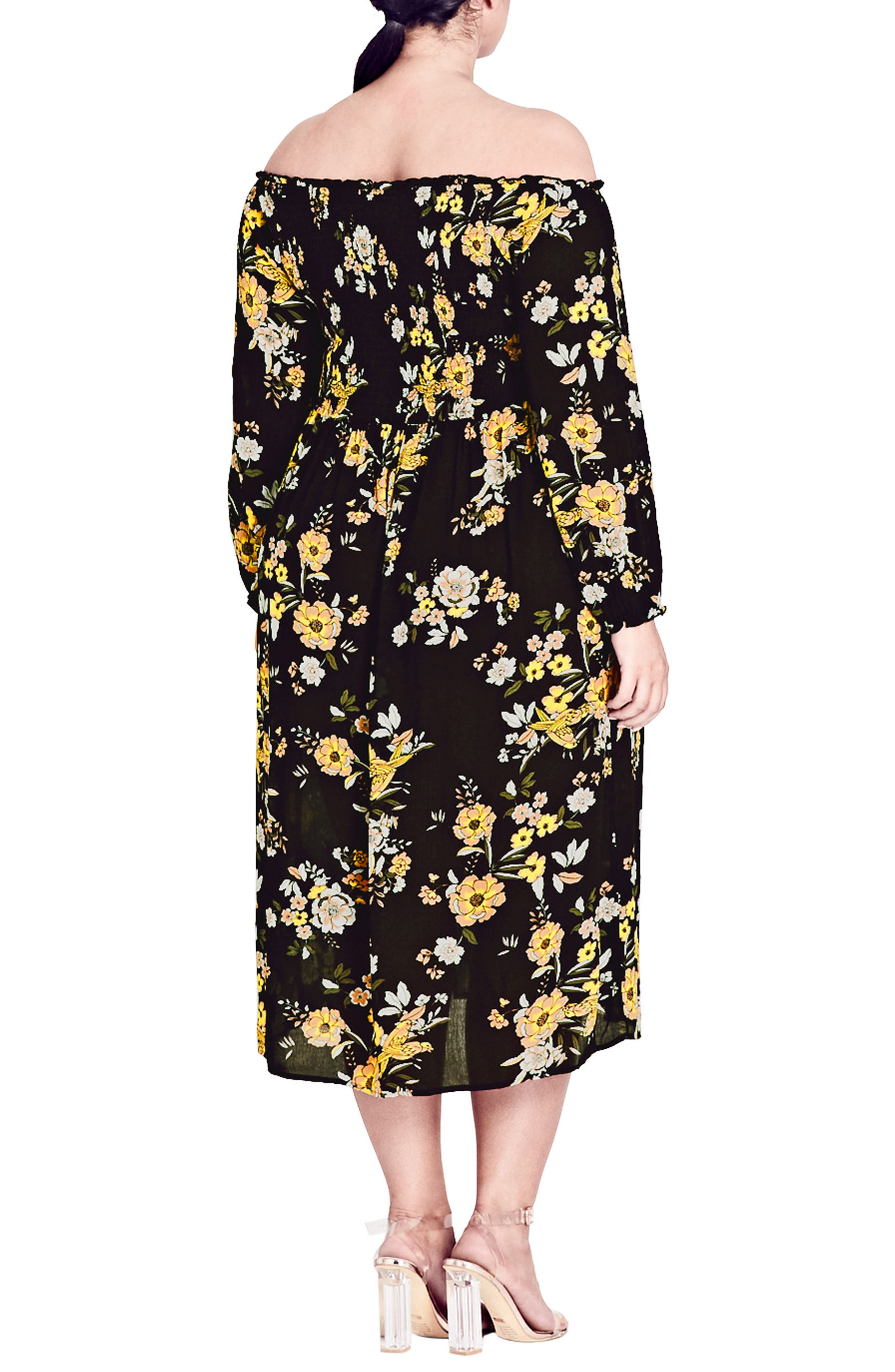 Miss Chirpy Off the Shoulder Dress,                             Alternate thumbnail 2, color,                             Miss Chirpy