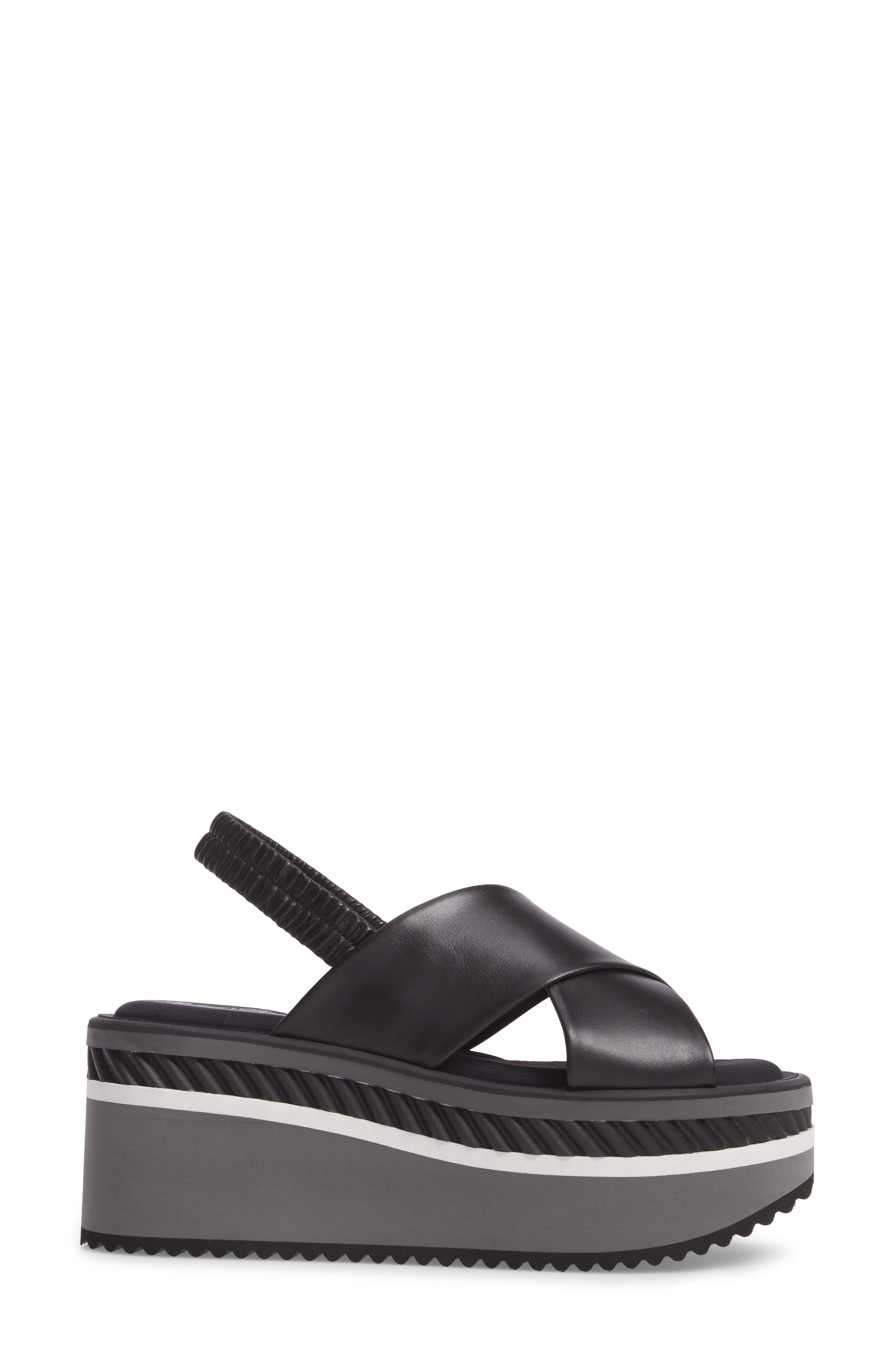 Omin Platform Slingback Sandal,                             Alternate thumbnail 3, color,                             Black