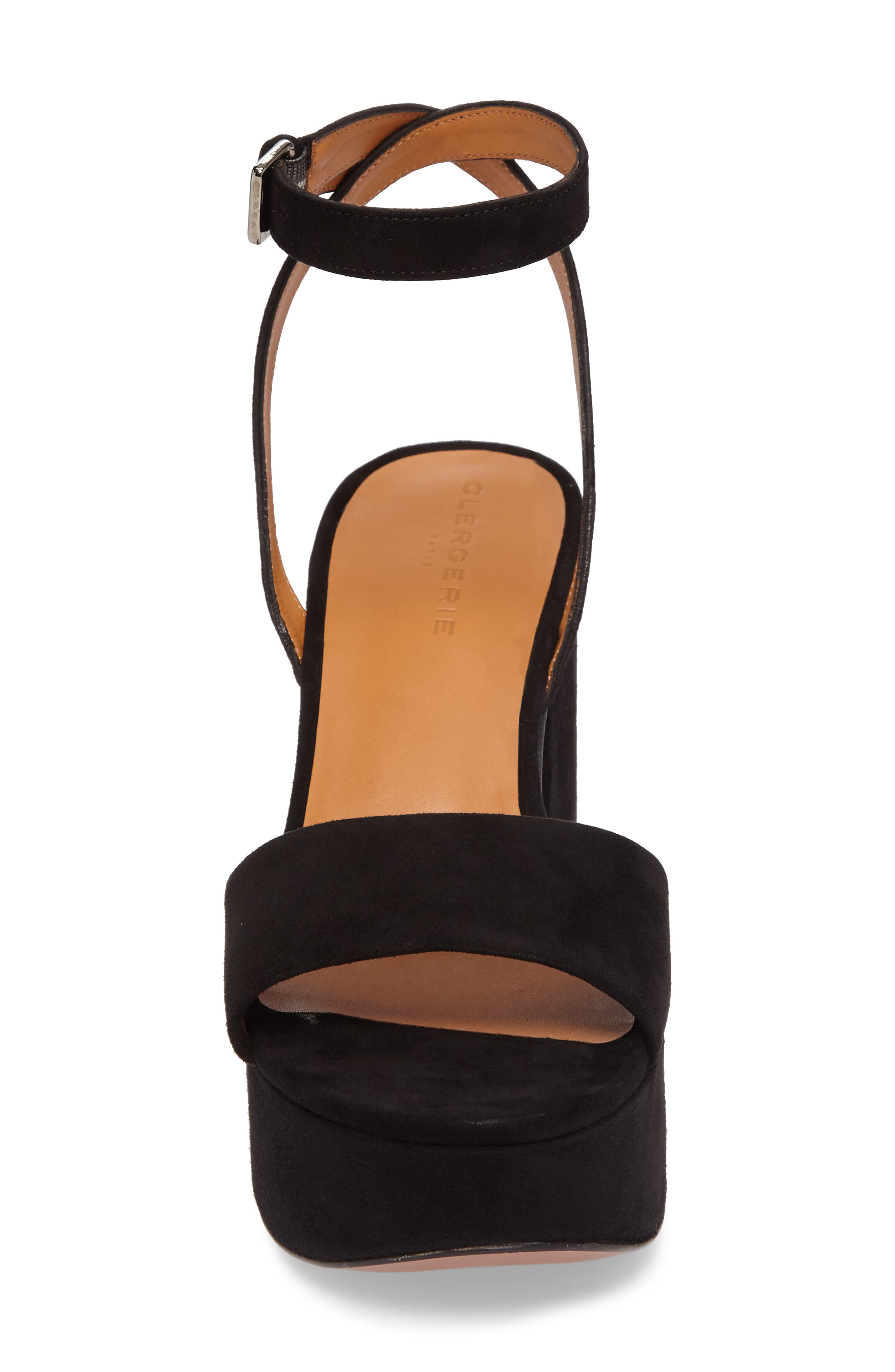 Vionica Platform Ankle Strap Sandal,                             Alternate thumbnail 4, color,                             Black