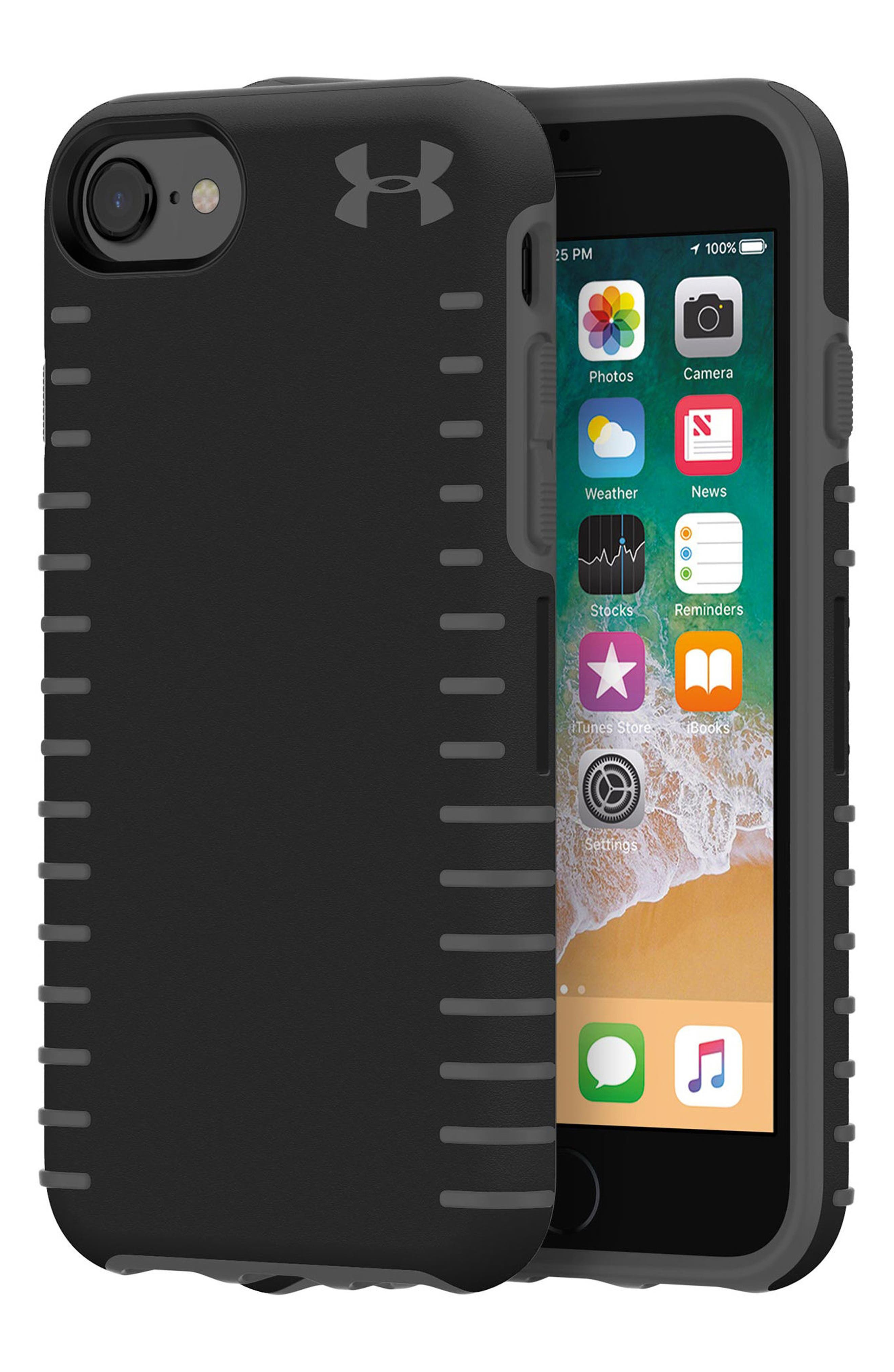 Protect Grip iPhone 6/6s/7/8 Case,                             Alternate thumbnail 4, color,                             Black/ Graphite
