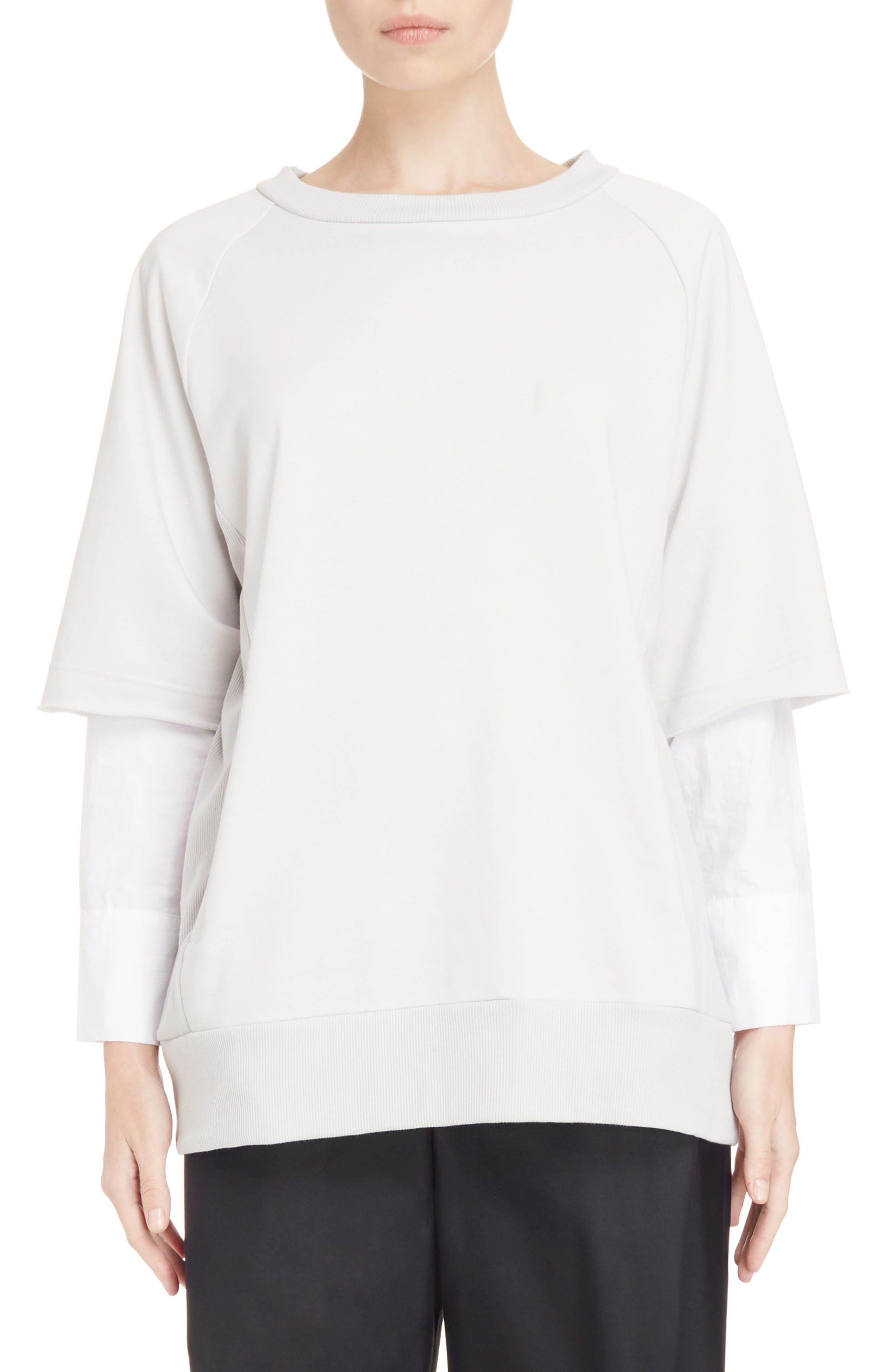 Alternate Image 1 Selected - Y's by Yohji Yamamoto Double Sleeve Sweatshirt