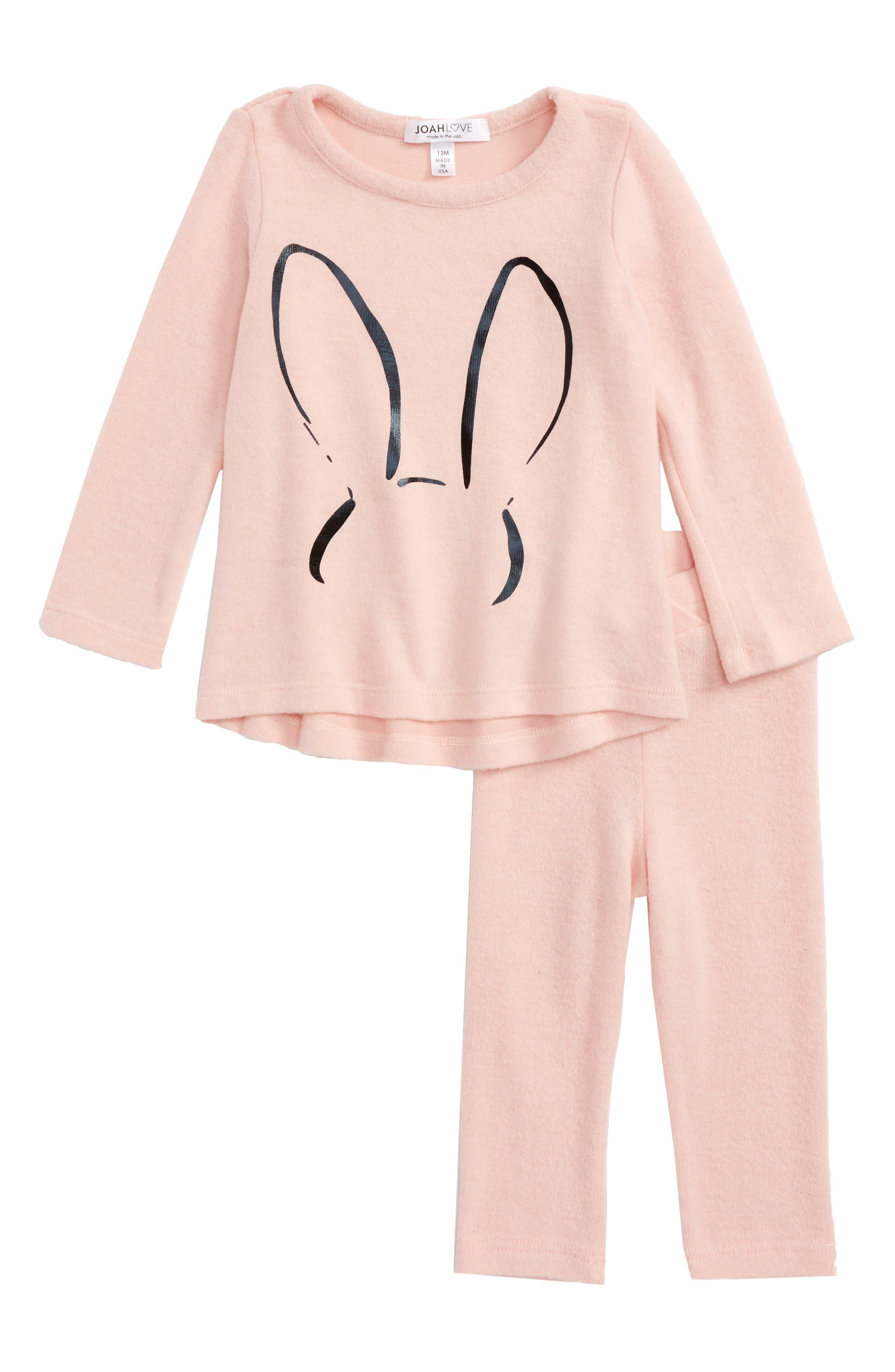 Sweater & Sweatpants Set,                         Main,                         color, Pinky