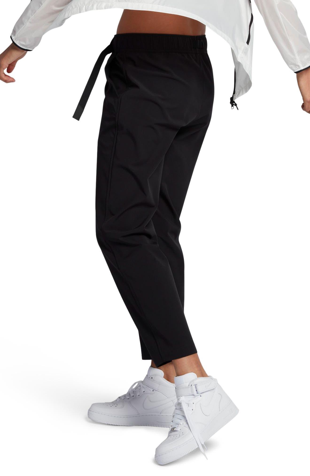 NikeLab Essentials Women's Stretch Woven Pants,                             Alternate thumbnail 4, color,                             Black/ Black