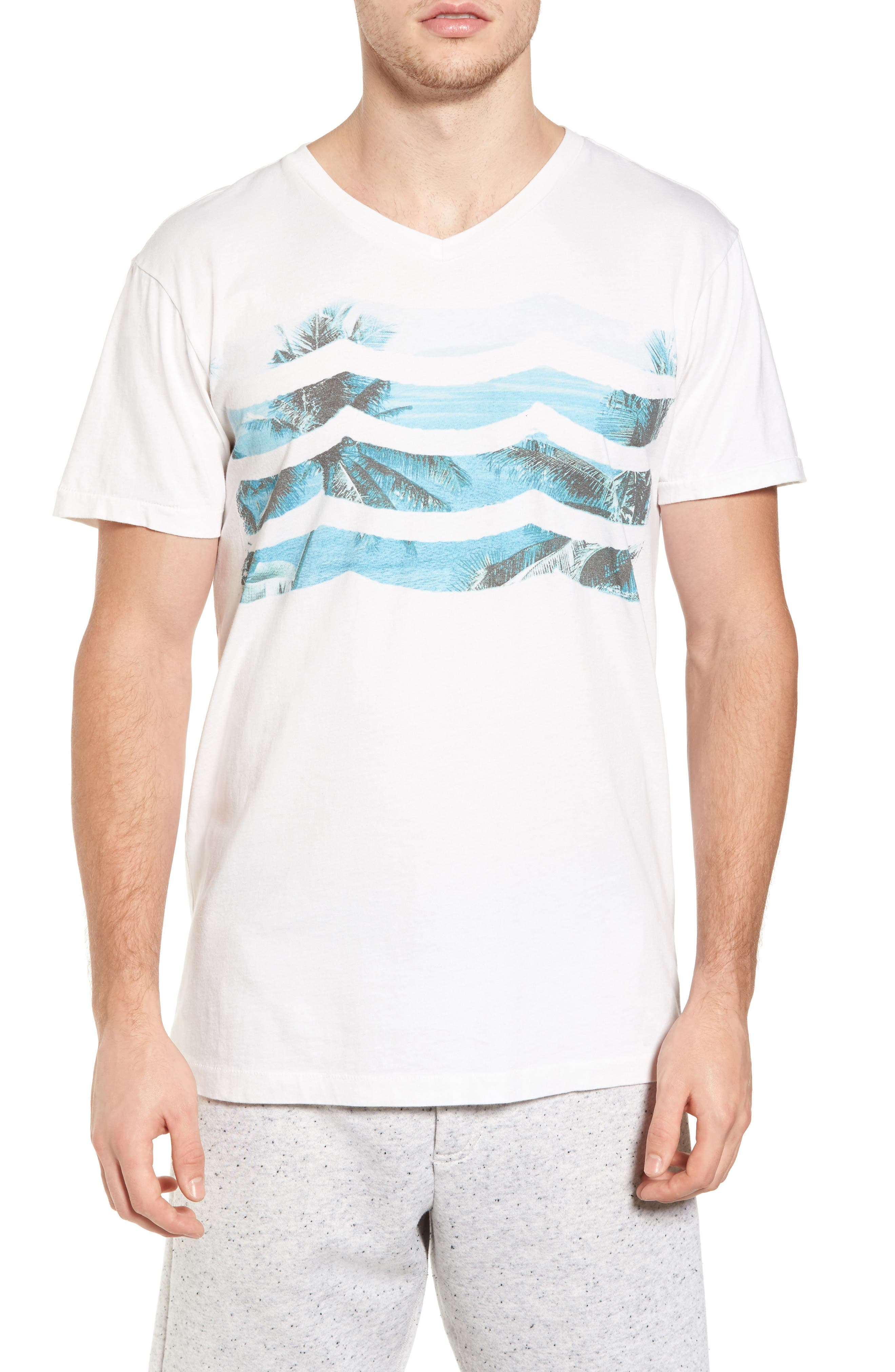 Vista Del Mar T-Shirt,                         Main,                         color, D White