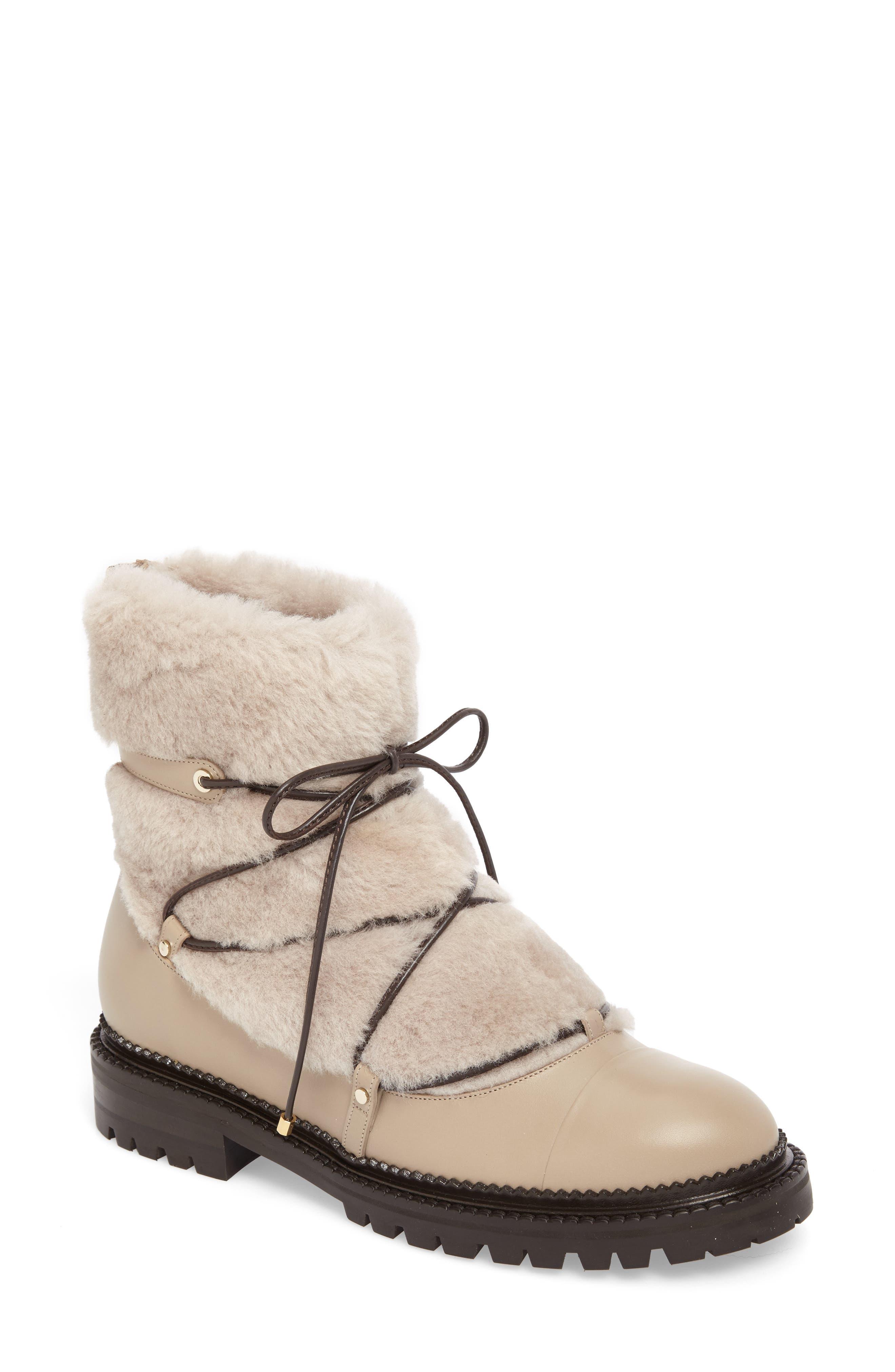 Darcie Genuine Shearling Boot,                             Main thumbnail 1, color,                             Chai