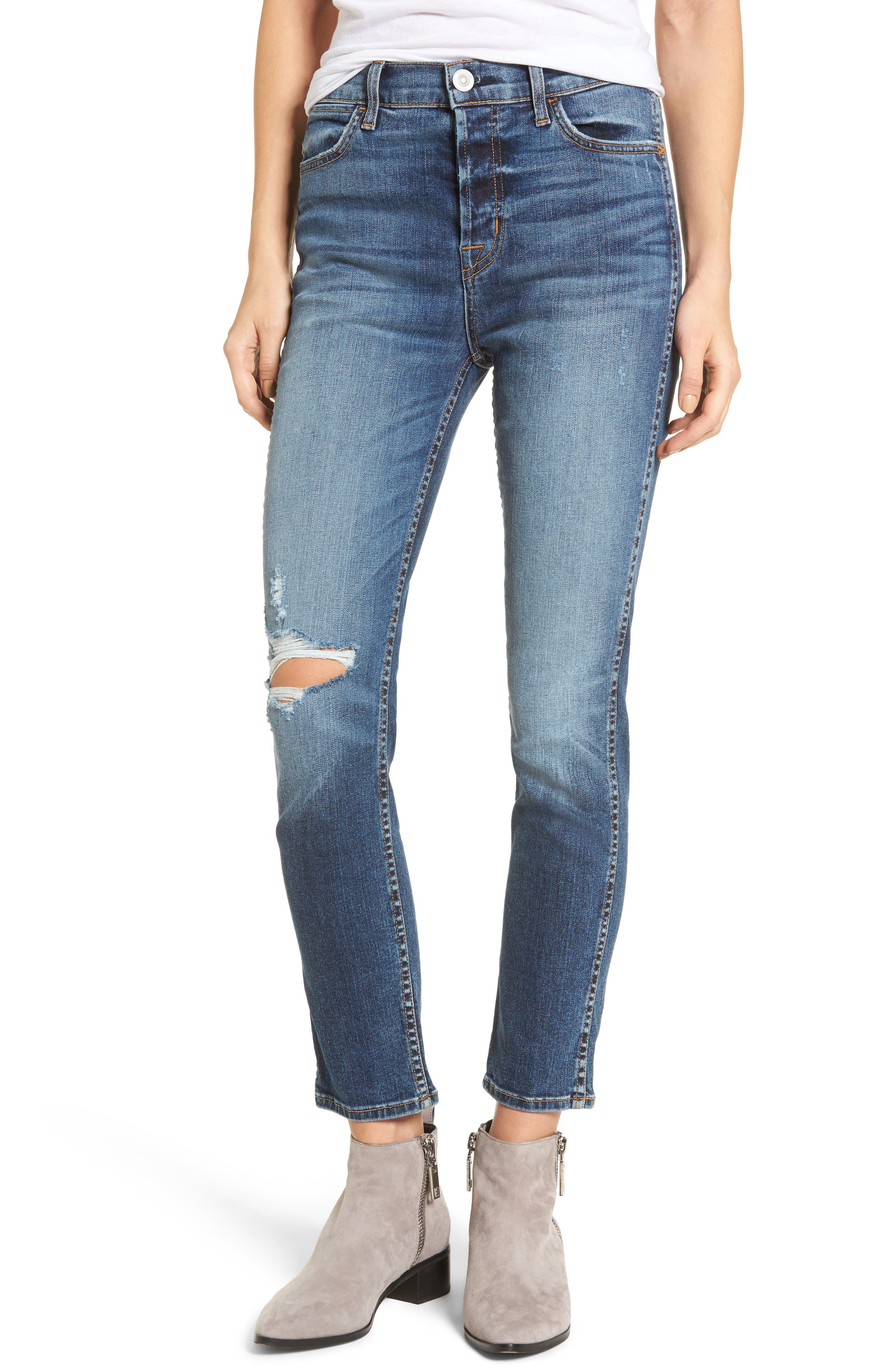 Holly High Waist Ankle Skinny Jeans,                         Main,                         color, New Level