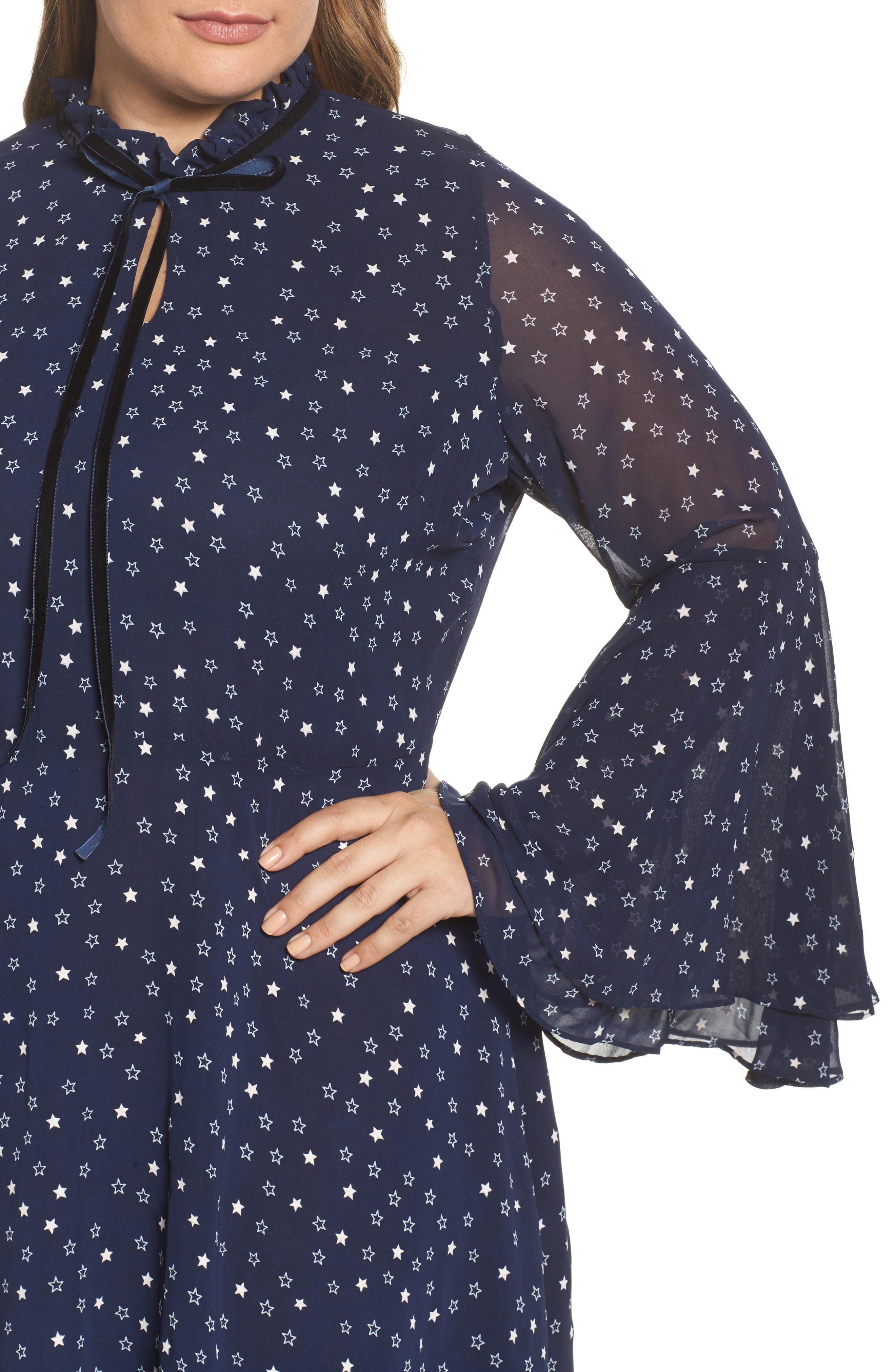 Alternate Image 4  - Glamorous Bell Sleeve Floral Minidress (Plus Size)
