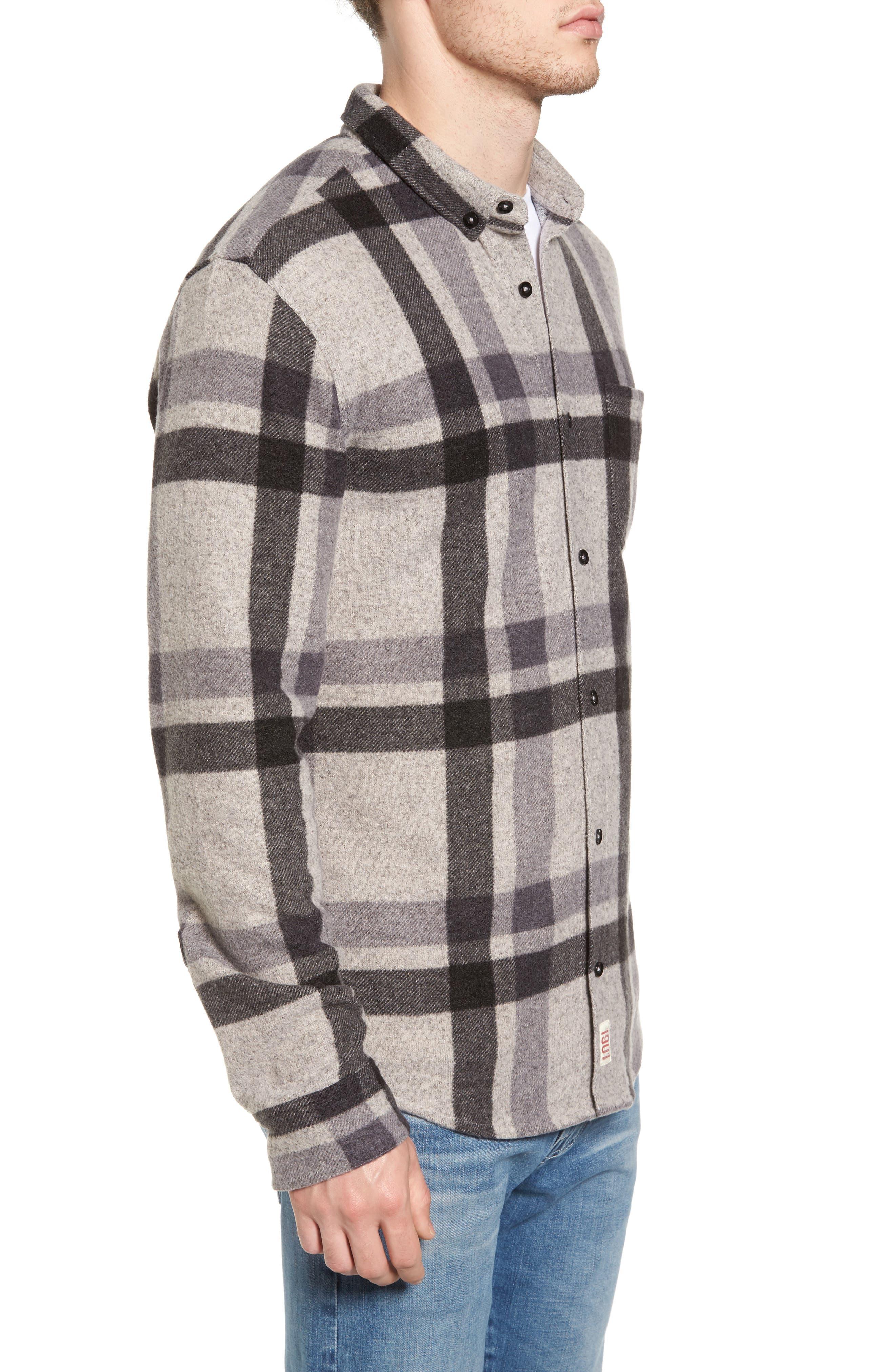 Plaid Shirt,                             Alternate thumbnail 3, color,                             Grey Charcoal Large Plaid