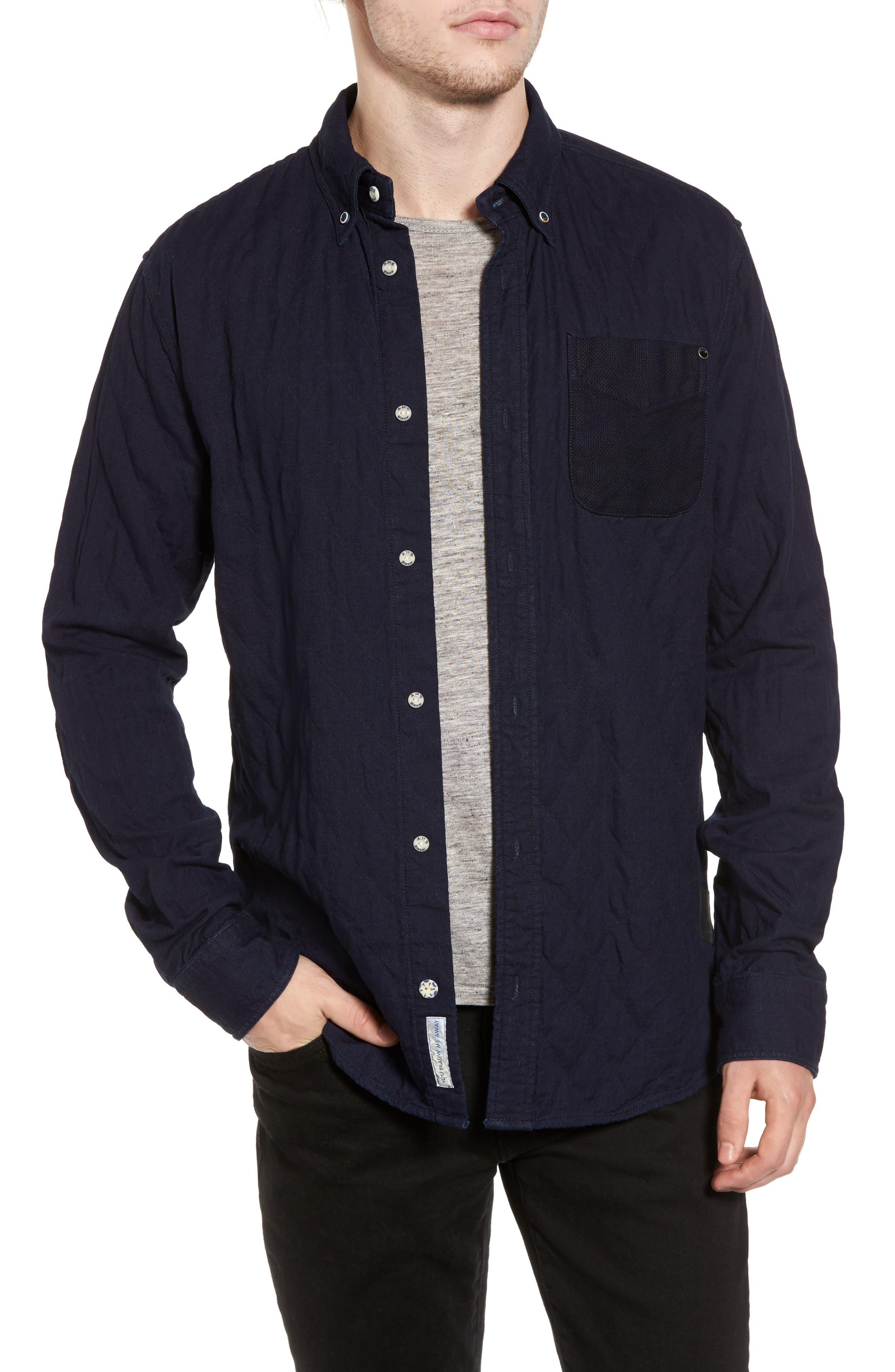 Main Image - Scotch & Soda Double Weave Overshirt