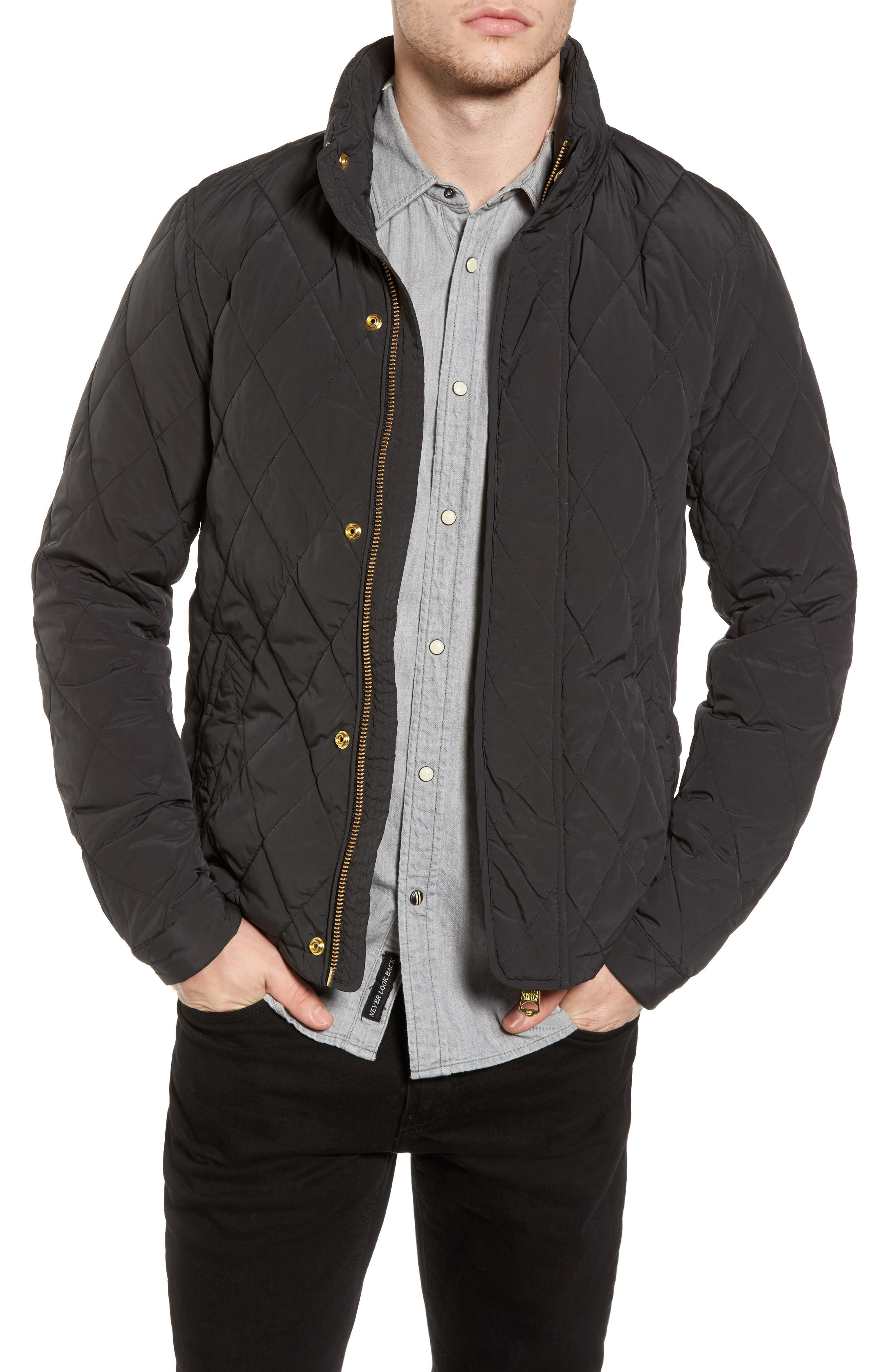 Alternate Image 1 Selected - Scotch & Soda Lightweight Quilted Jacket