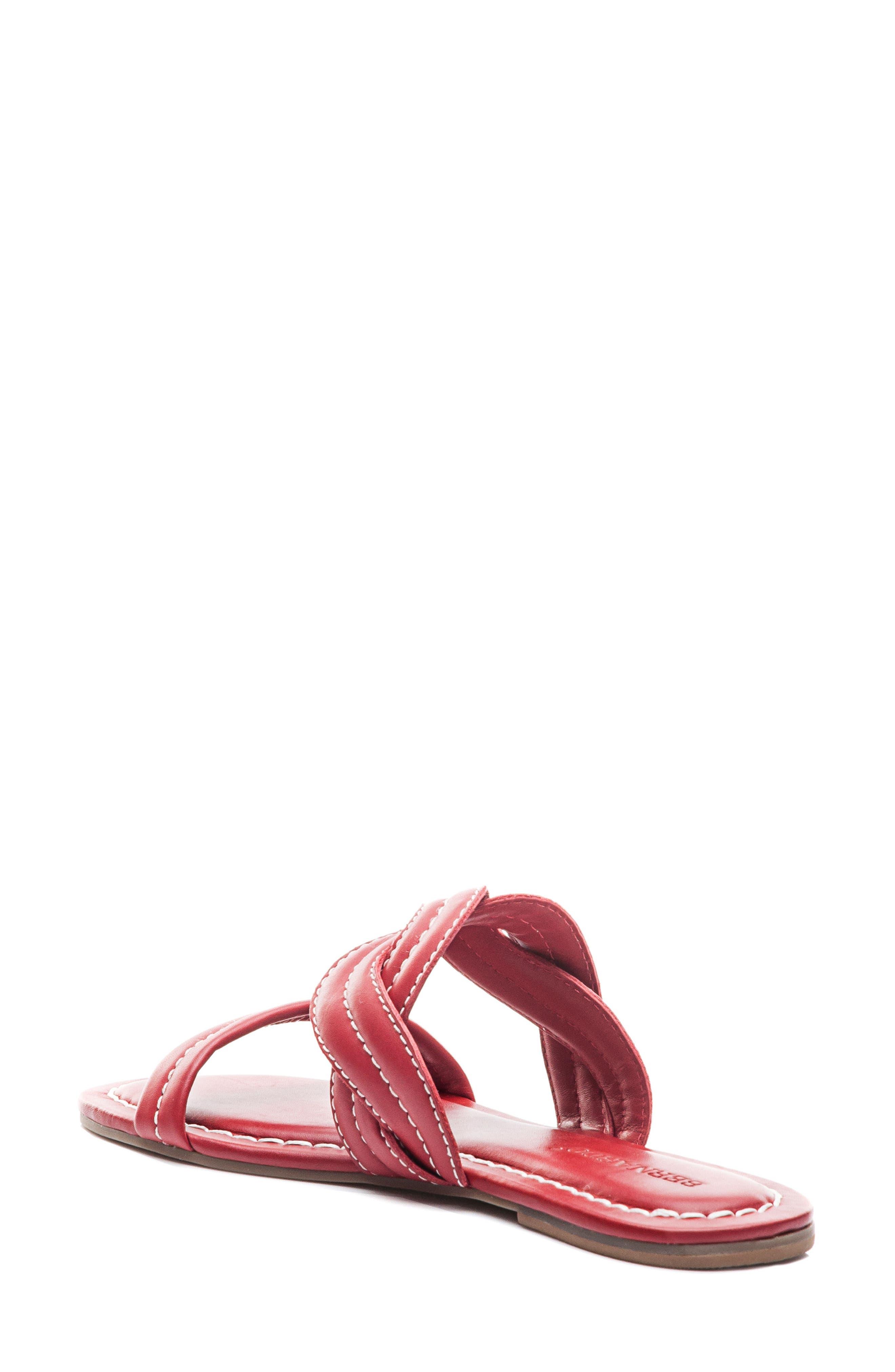 Bernardo Mirian Slide Sandal,                             Alternate thumbnail 2, color,                             Red Leather