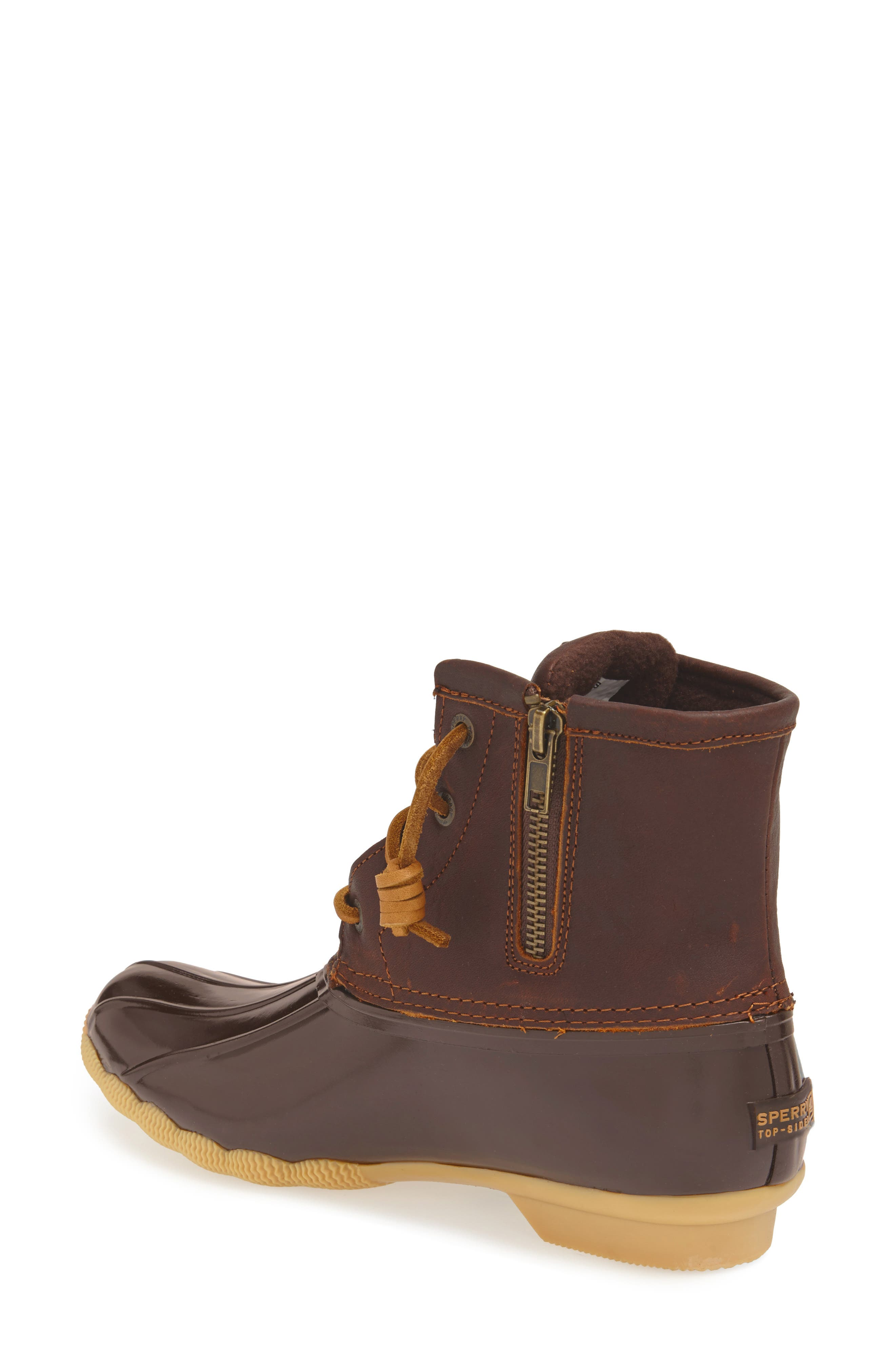 Saltwater Rain Boot,                             Alternate thumbnail 2, color,                             Tan/ Brown
