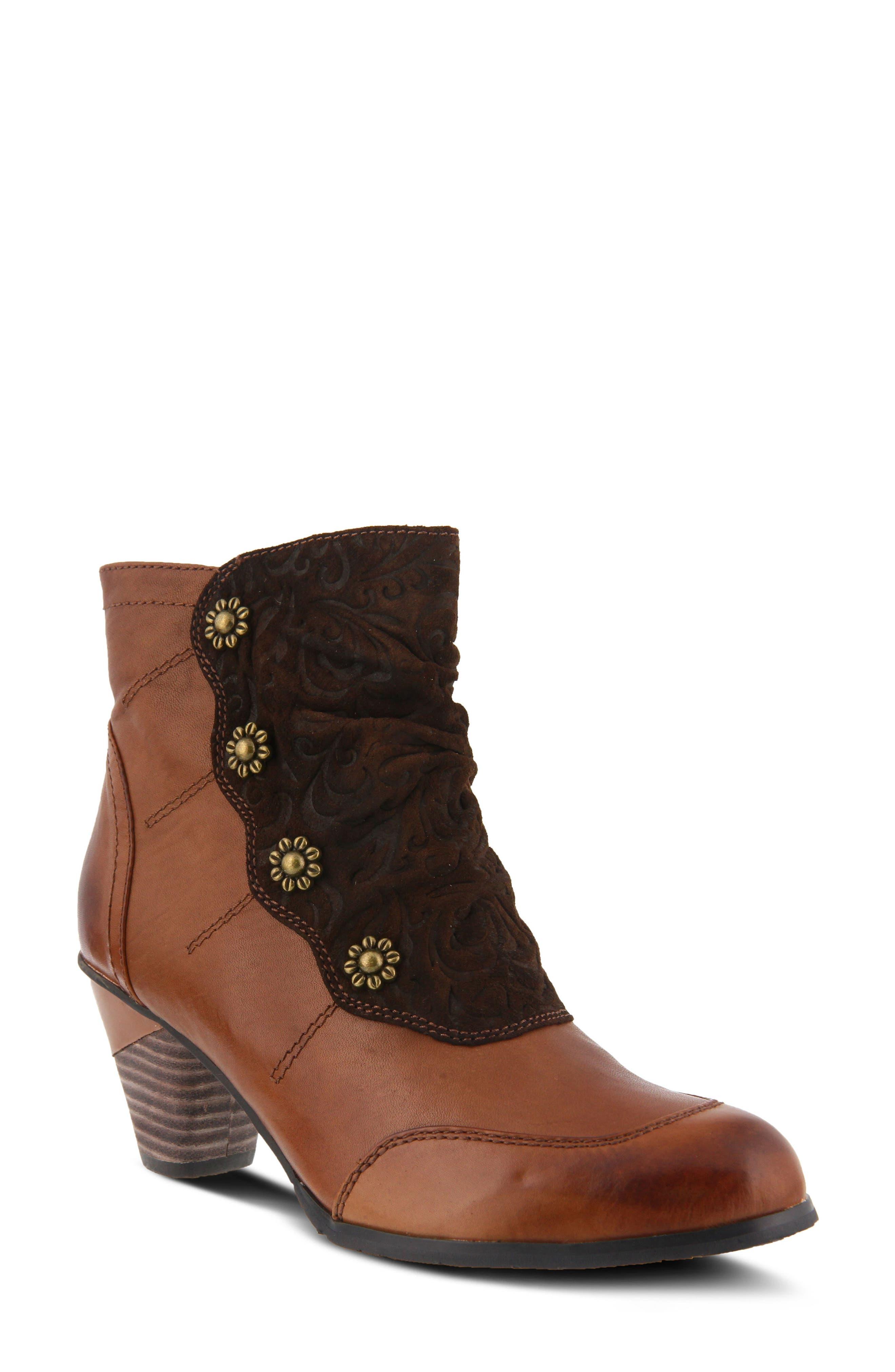 L'Artiste Belgard Bootie,                         Main,                         color, Brown Leather