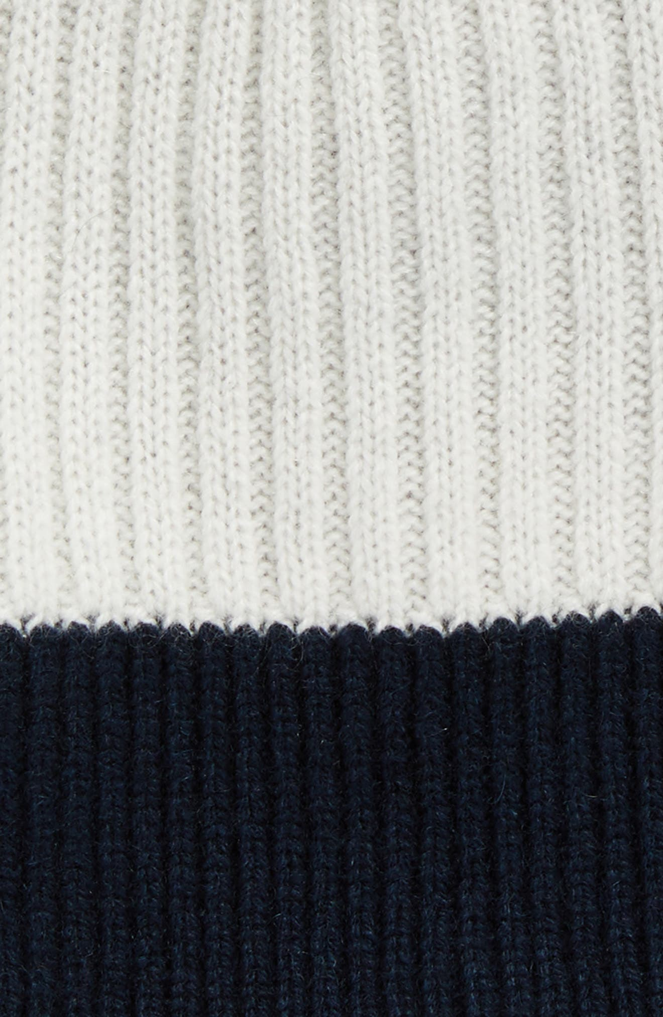 Ace Reversible Cashmere Beanie,                             Alternate thumbnail 3, color,                             Navy