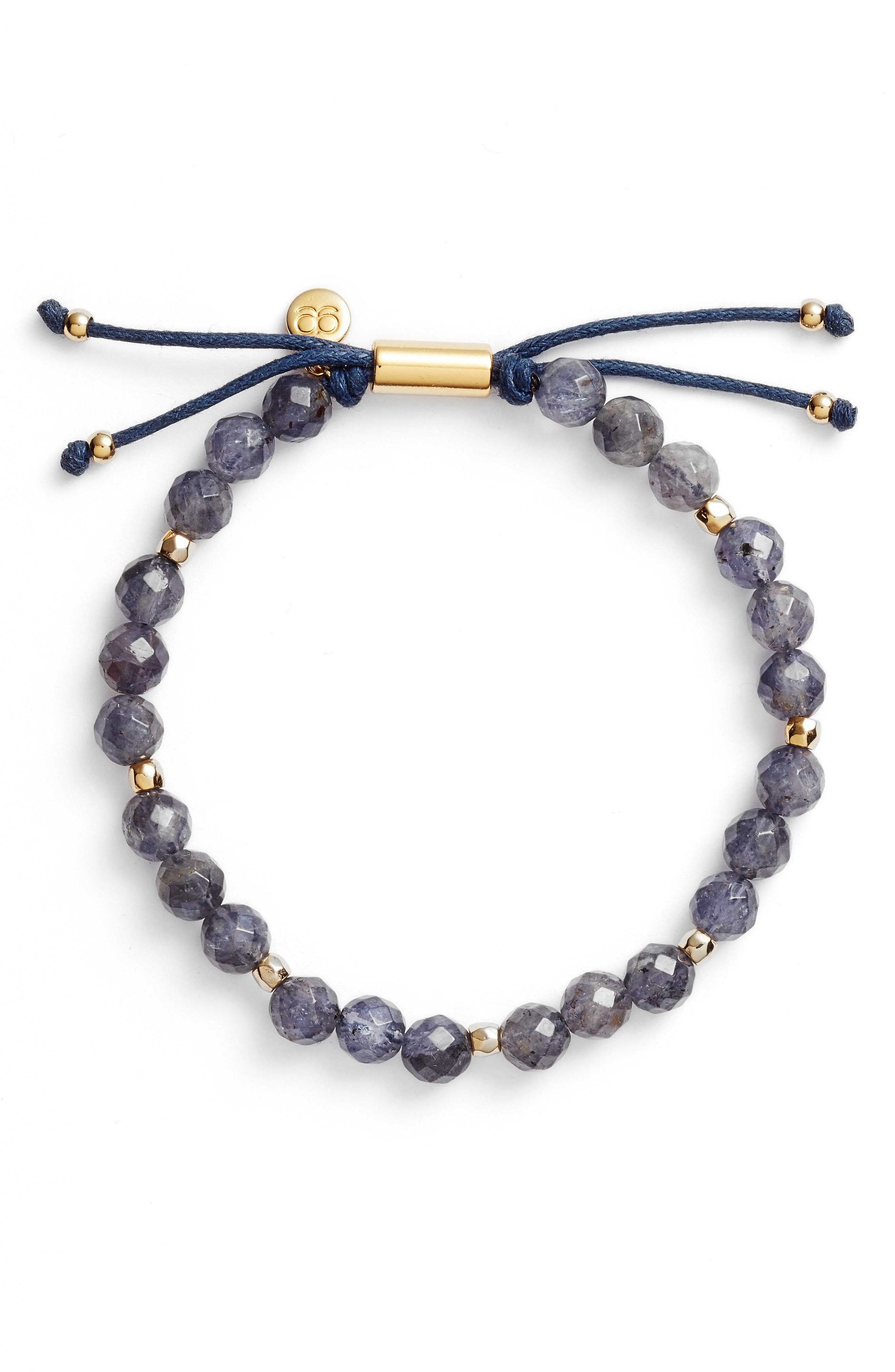 Power Stone Bracelet,                             Main thumbnail 1, color,                             Iolite/ Gold