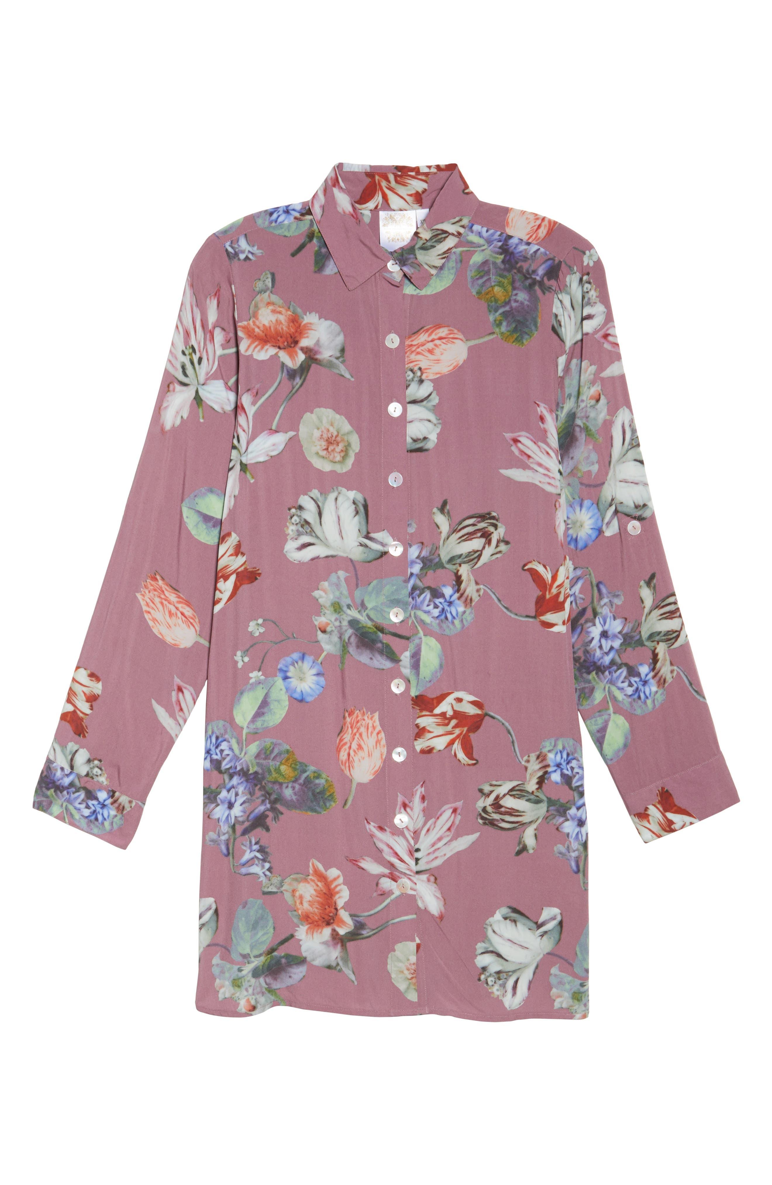 Floral Nightshirt,                         Main,                         color, Sundown