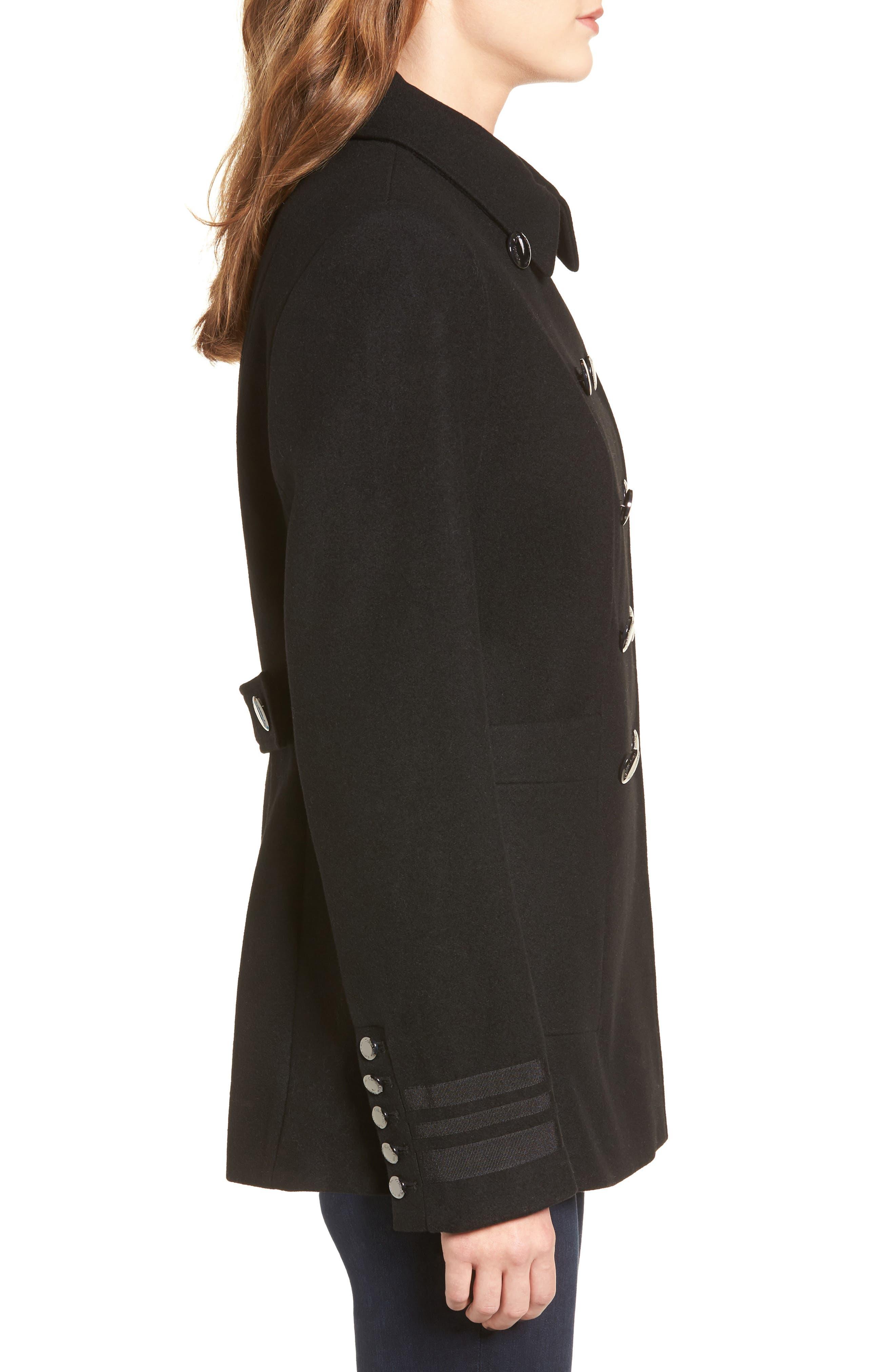 Alternate Image 3  - Calvin Klein Grosgrain Double-Breasted Peacoat