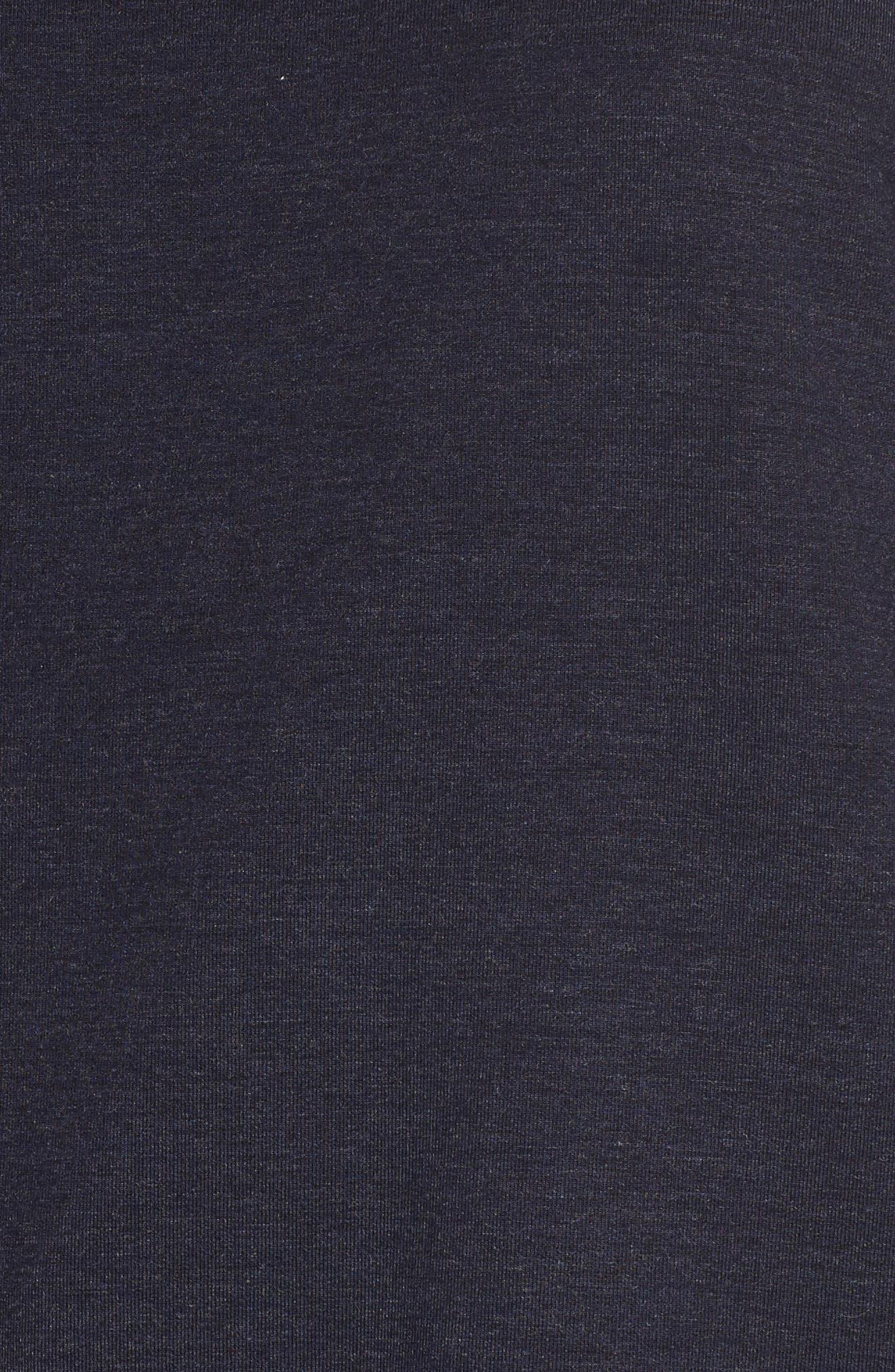 Poplin & Lace Crewneck Sweatshirt,                             Alternate thumbnail 5, color,                             Navy Night