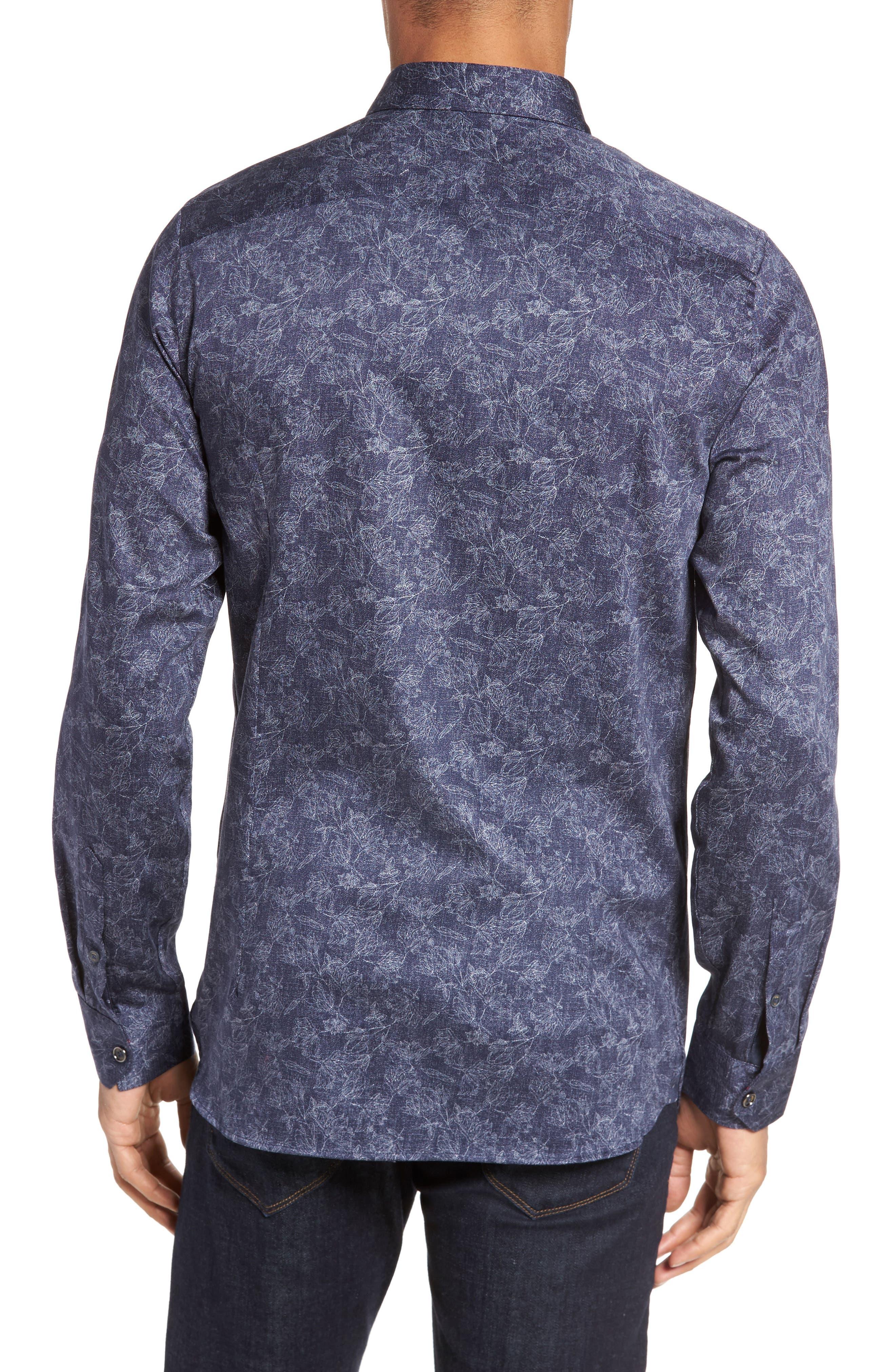 Marais Geo Print Sport Shirt,                             Alternate thumbnail 2, color,                             Blue