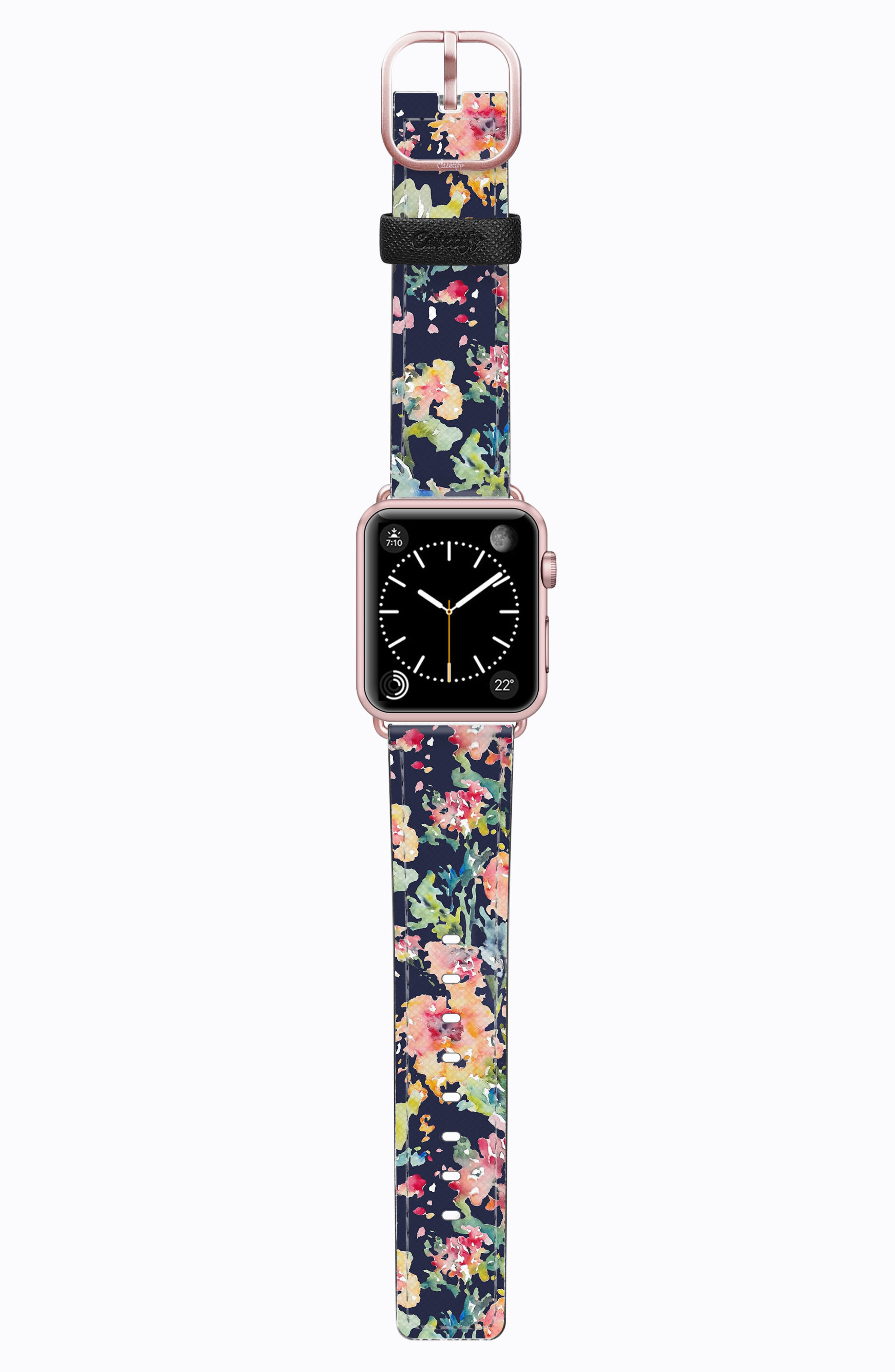 Alternate Image 1 Selected - Casetify Saffiano Faux Leather Apple Watch Strap