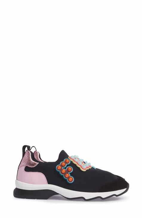 Fendi Logo Slip-On Sneaker (Women) 6e23965e8d