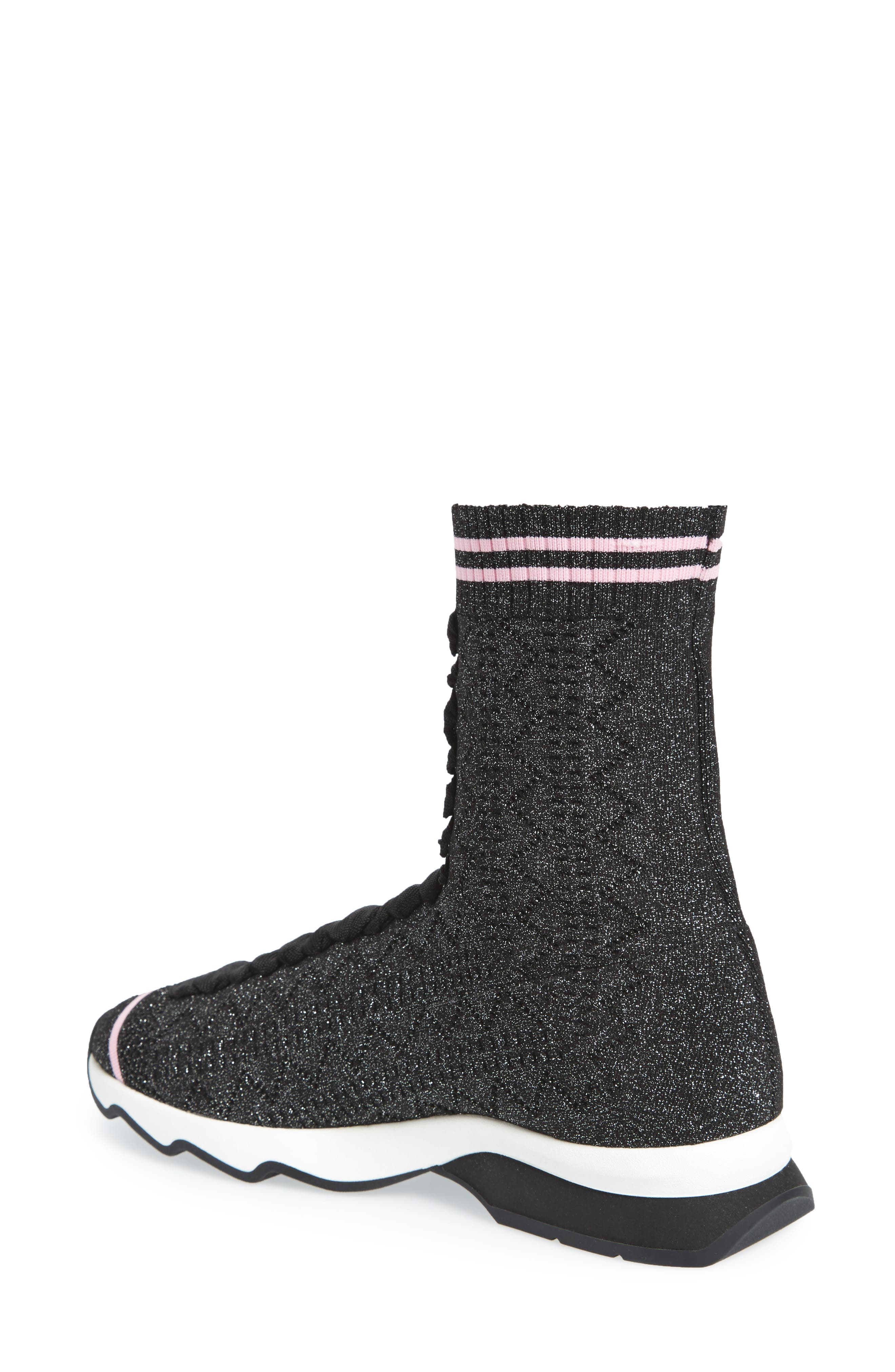 Alternate Image 2  - Fendi Rockoko High Top Sock Sneaker (Women)
