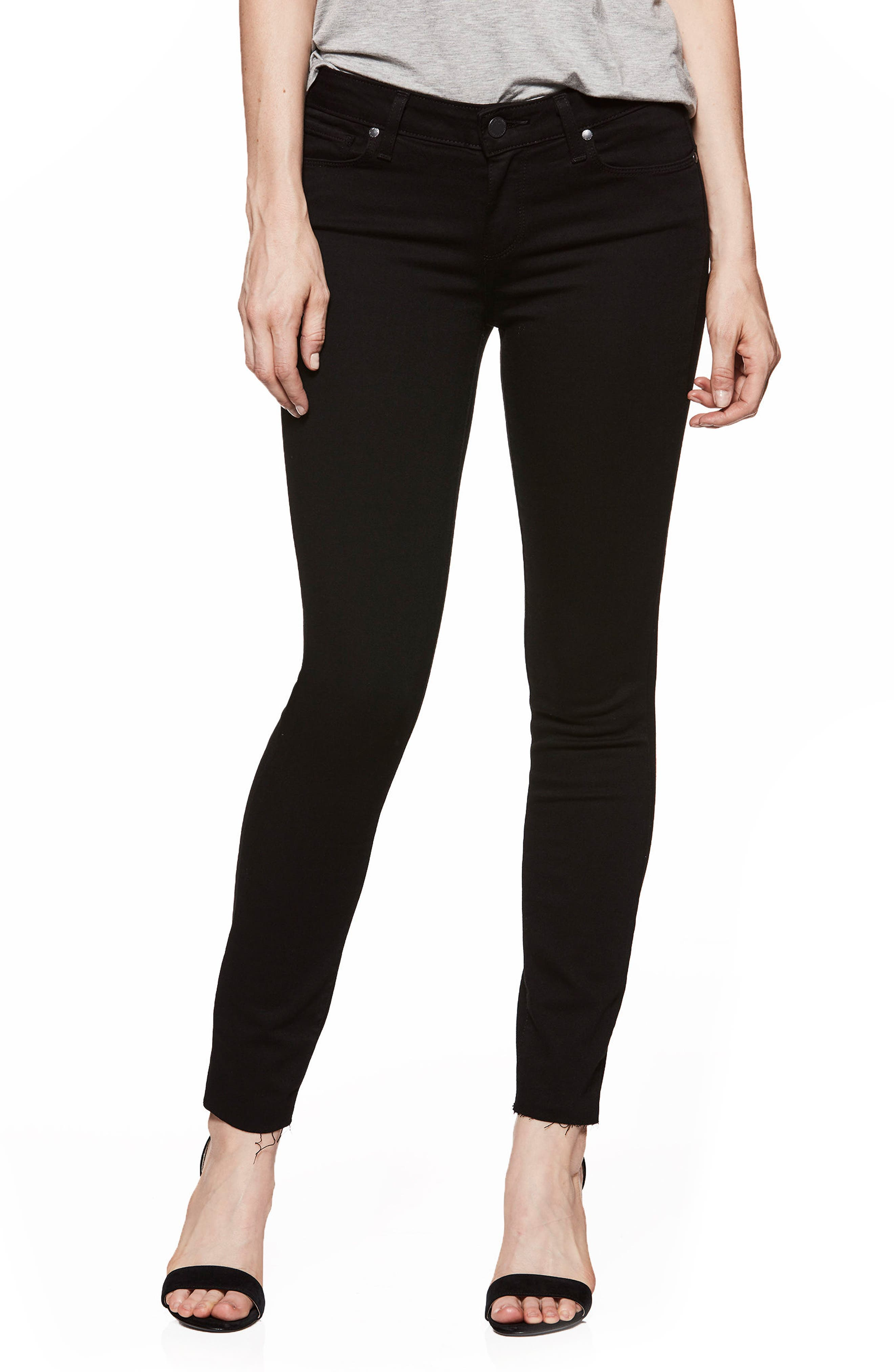 PAIGE Transcend - Verdugo Ankle Skinny Jeans (Black Shadow)