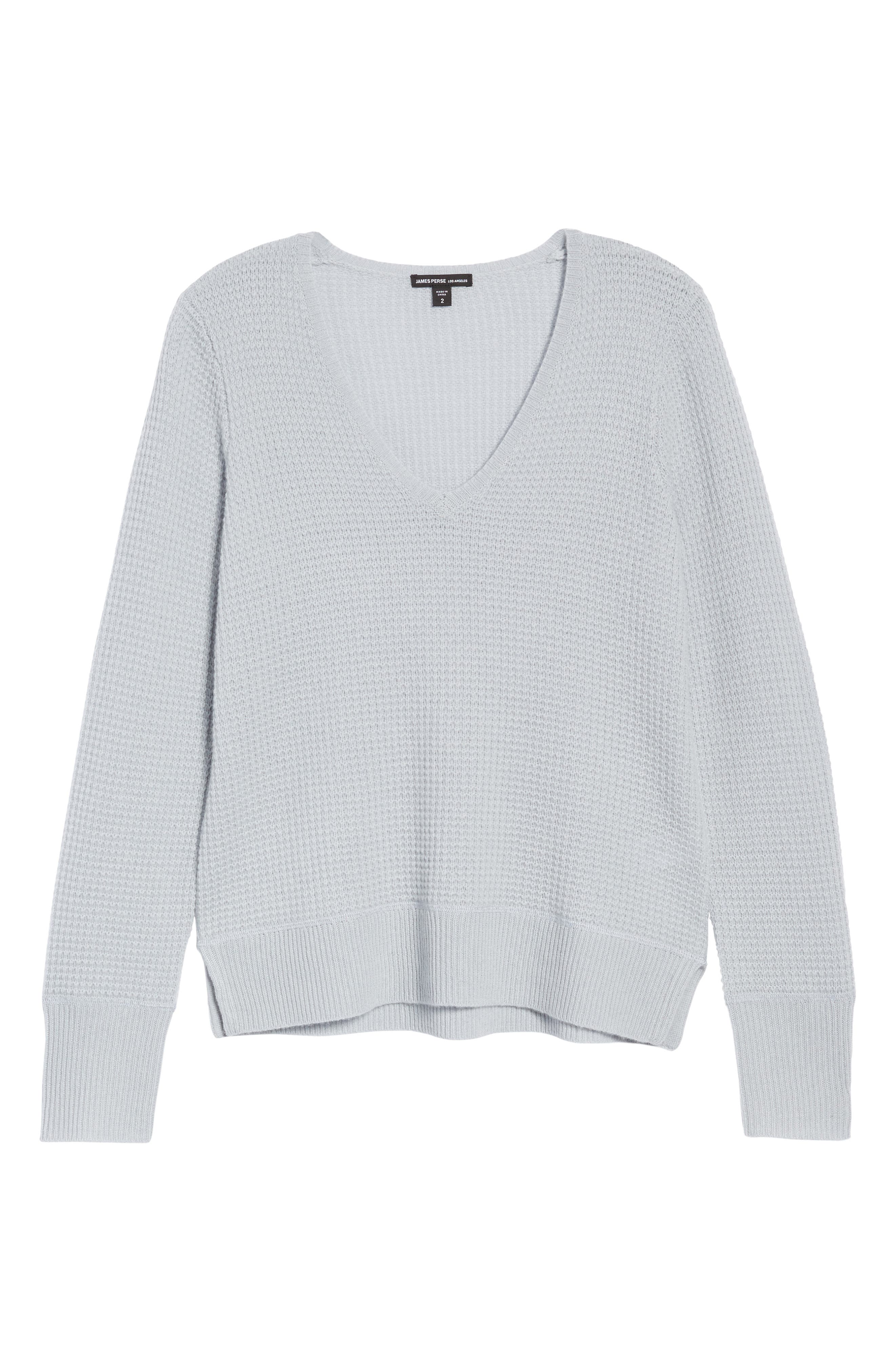 Alternate Image 6  - James Perse Cashmere Thermal Sweater
