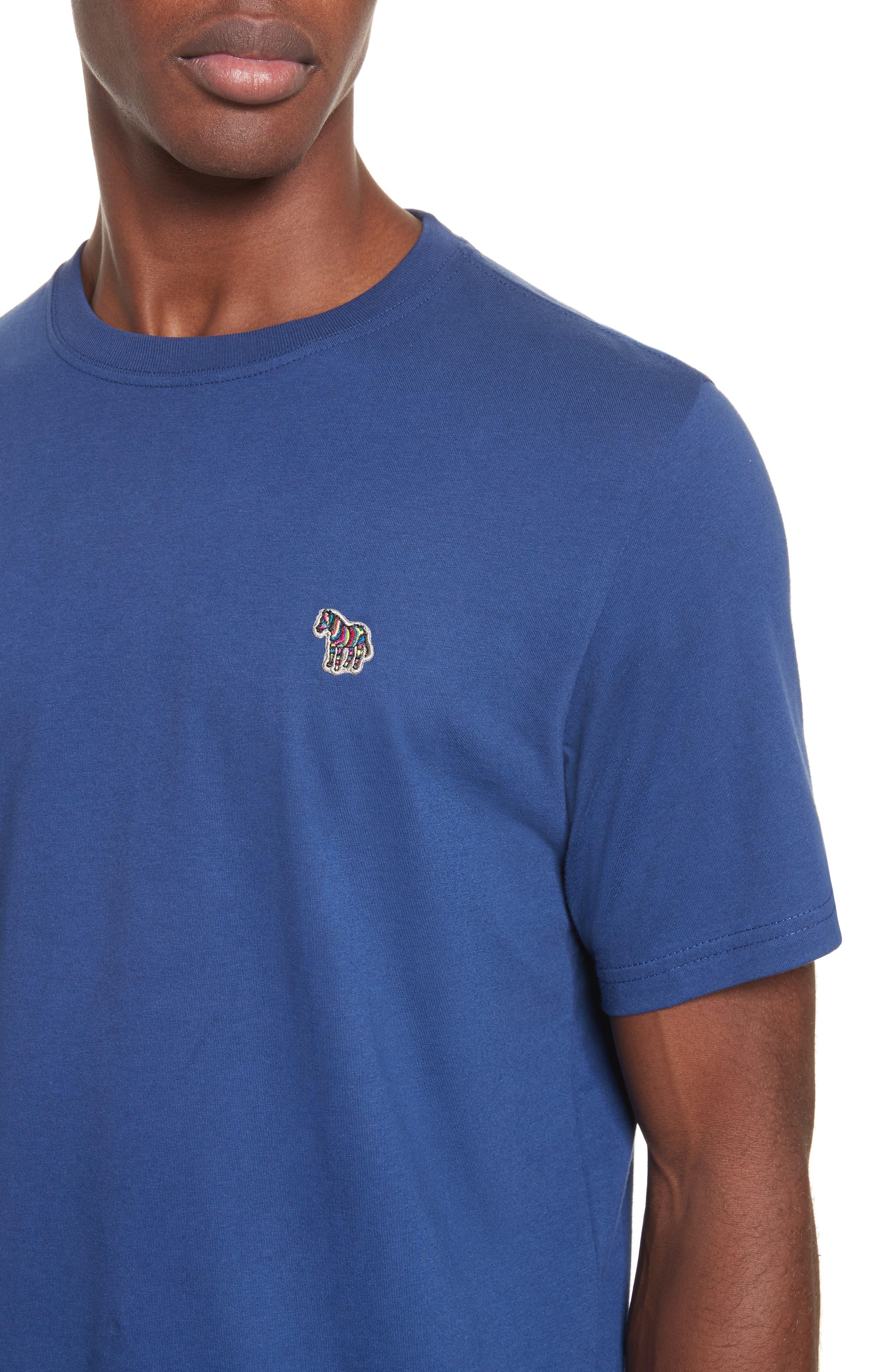 Zebra Logo T-Shirt,                             Alternate thumbnail 4, color,                             Blue