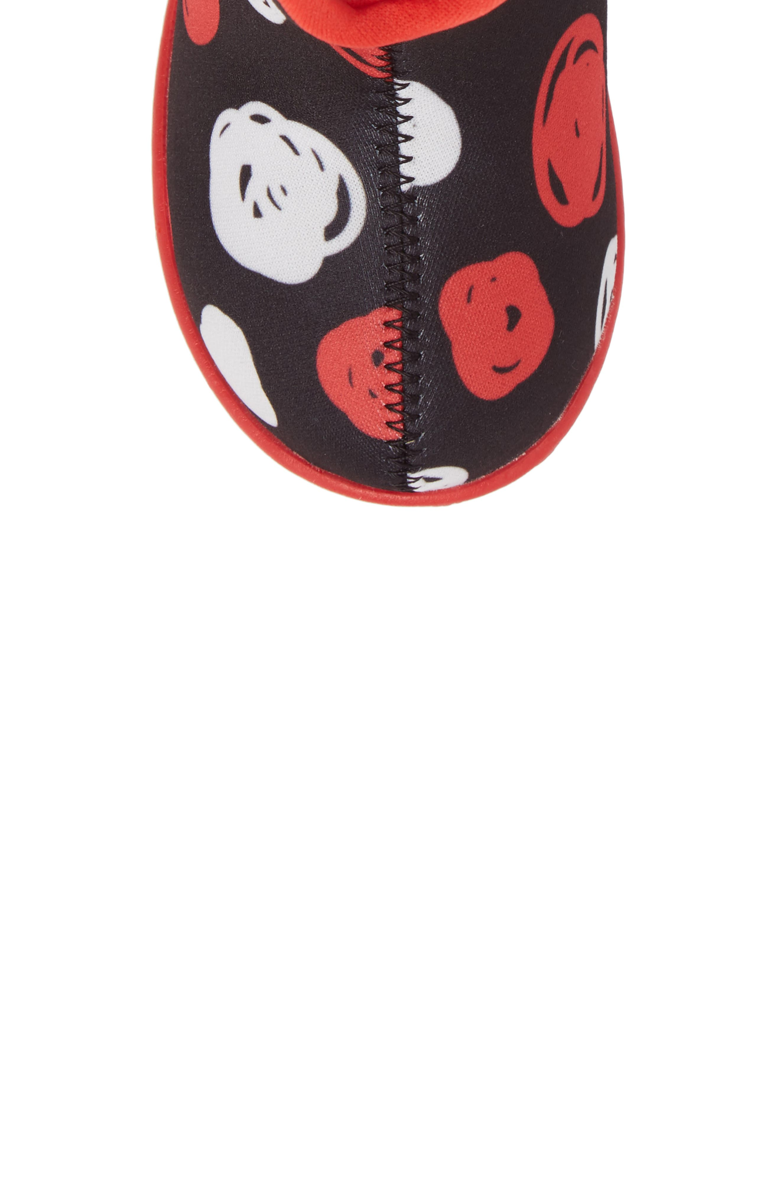 Baby Bogs Classic Sketched Dots Washable Insulated Waterproof Boot,                             Alternate thumbnail 5, color,                             Black/ Red Multi