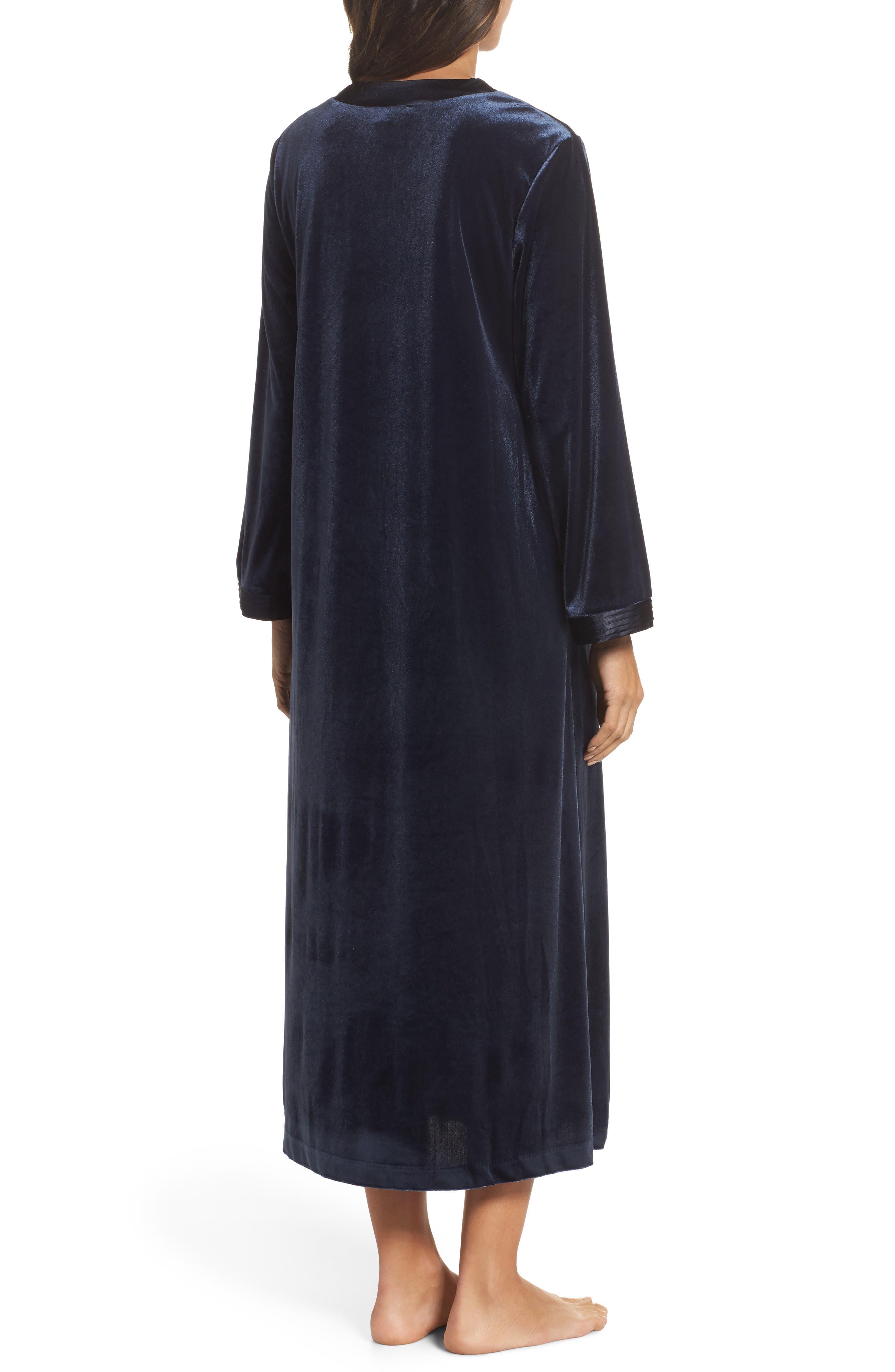Sleepwear Velvet Caftan,                             Alternate thumbnail 2, color,                             Blue