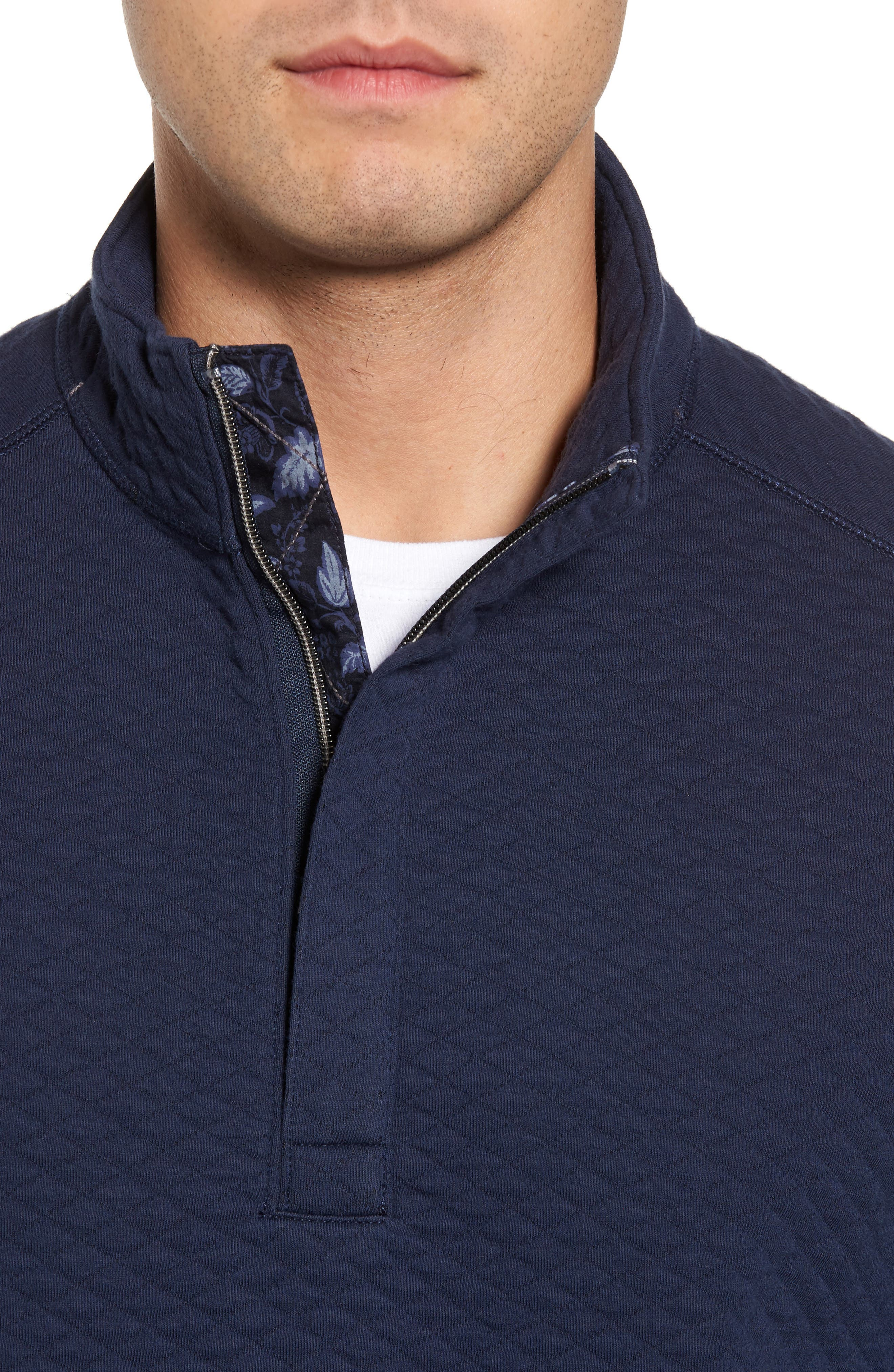 Alternate Image 4  - Tommy Bahama Quiltessential Standard Fit Quarter Zip Pullover