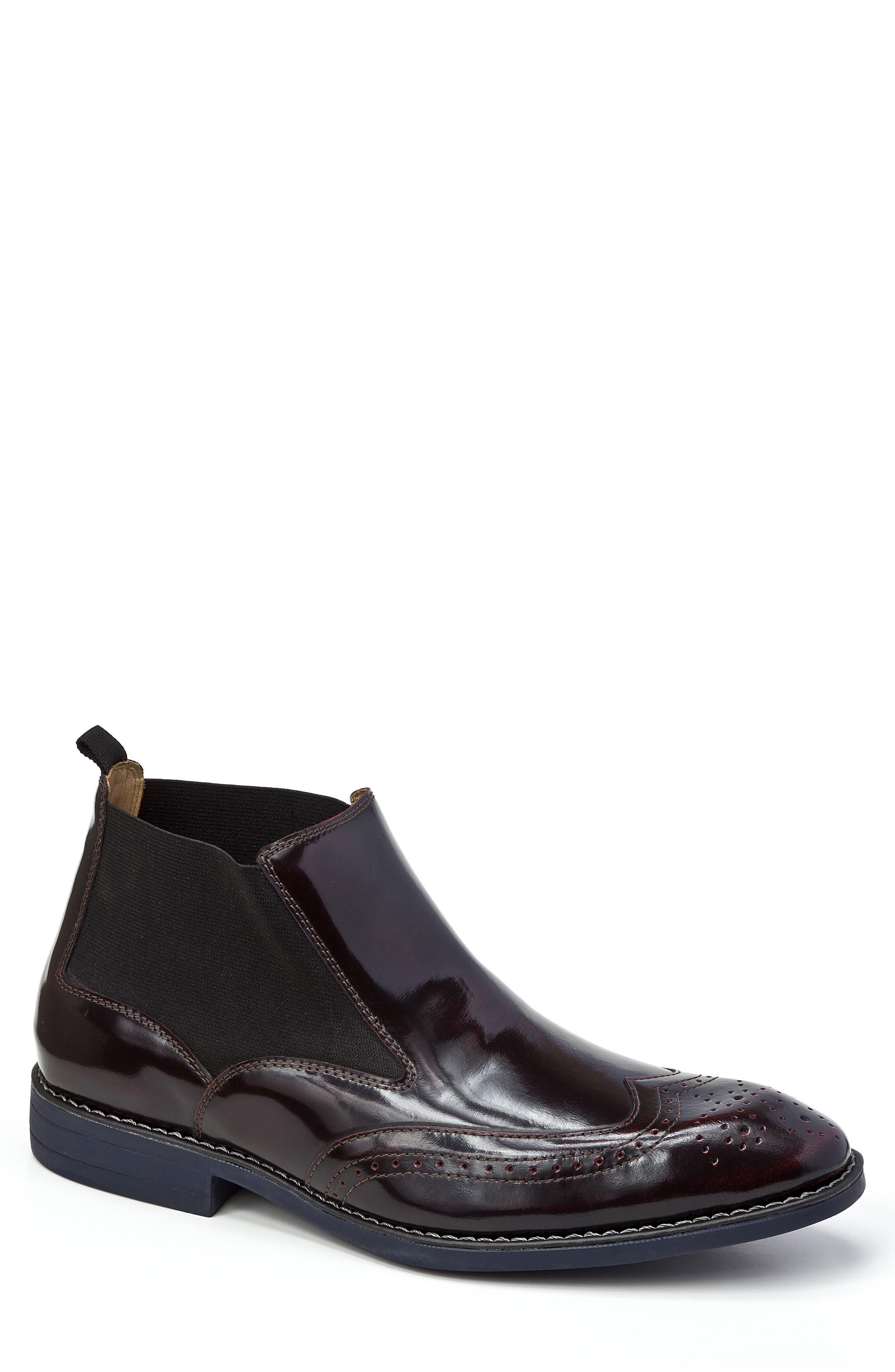 Emanuel Chelsea Boot,                         Main,                         color, Vino Leather