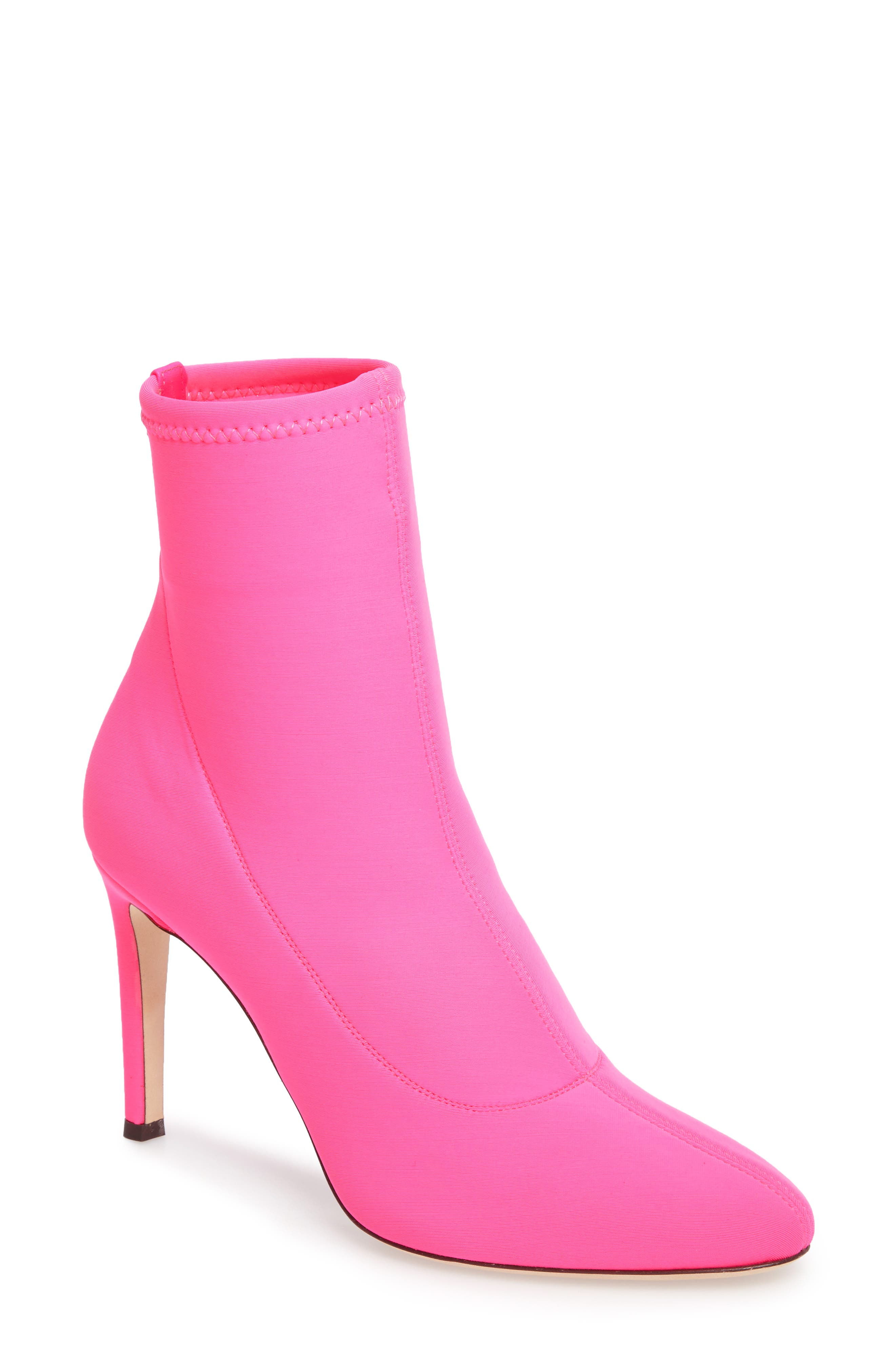 Bimba Stretch Bootie,                         Main,                         color, Pink
