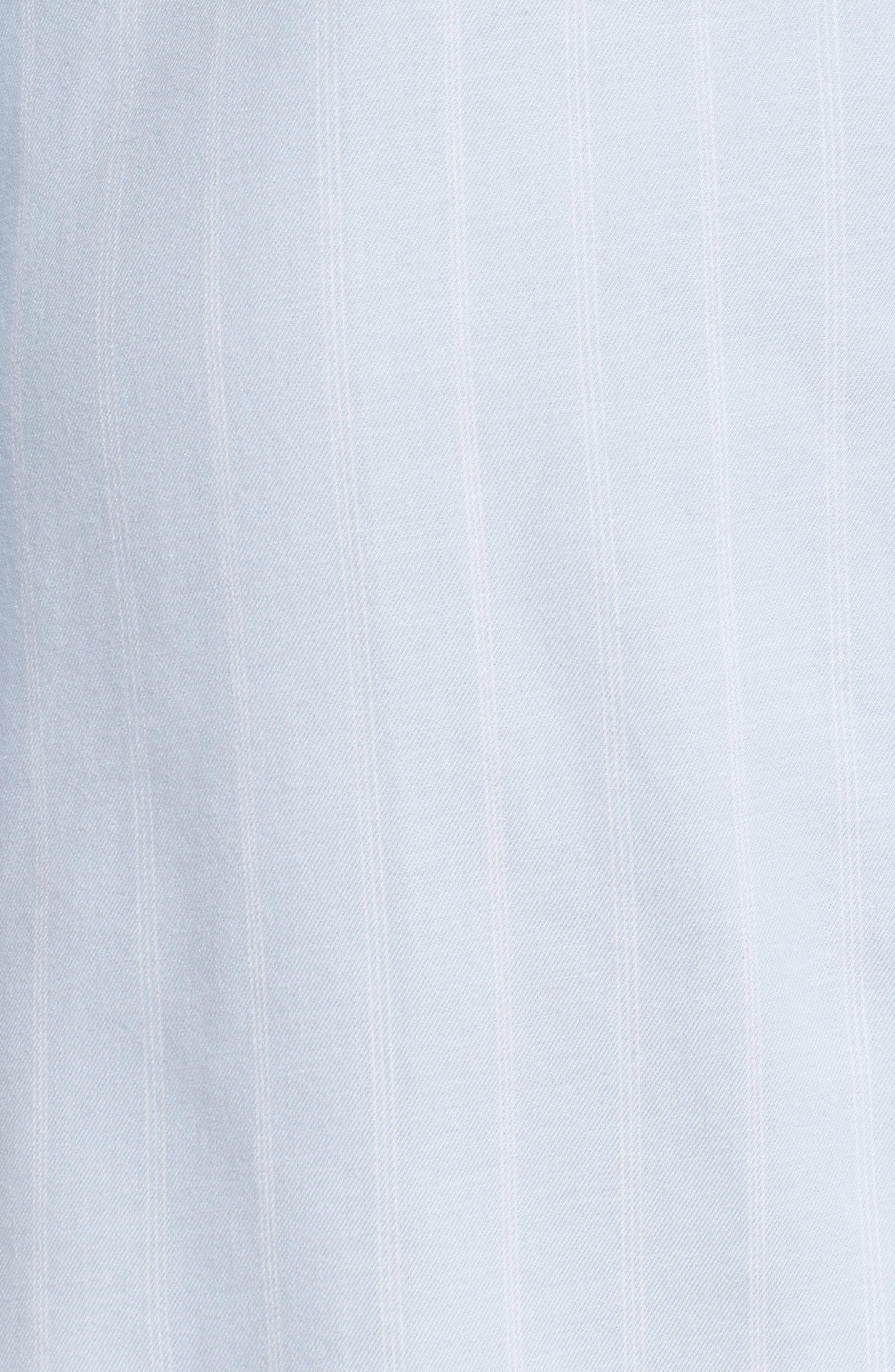 Notch Collar Sleep Shirt,                             Alternate thumbnail 5, color,                             Blue Pin Stripe