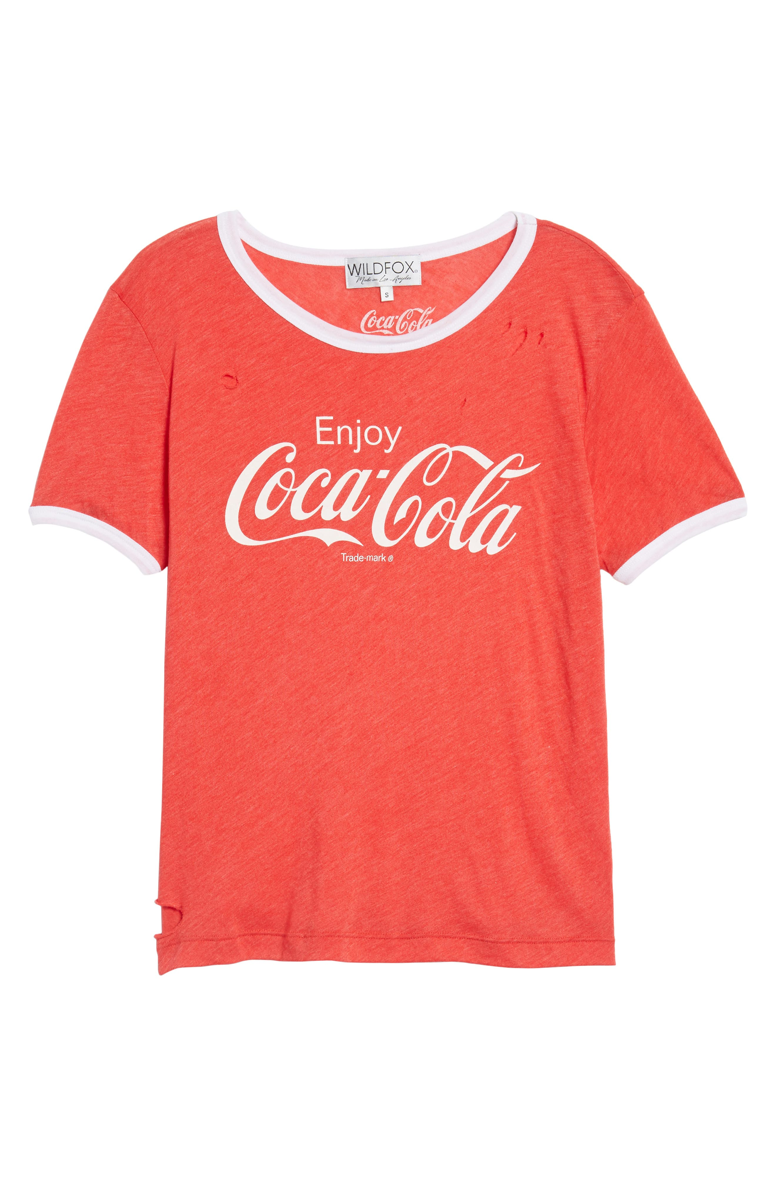 Coca Cola<sup>®</sup> Ringer Tee,                             Alternate thumbnail 6, color,                             Red Line